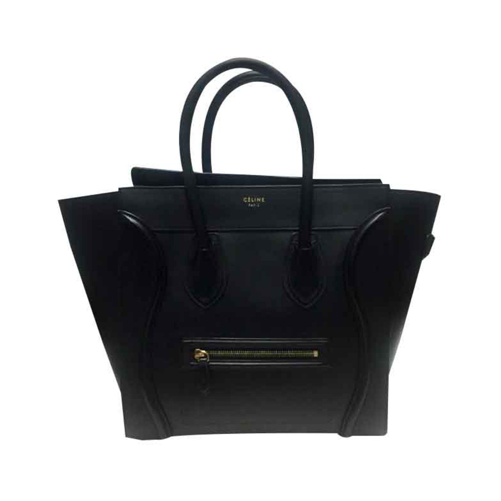 325b43a330 Céline CELINE MINI LUGGAGE SAC BREND NEW BLACK Handbags Leather Black ref .101298