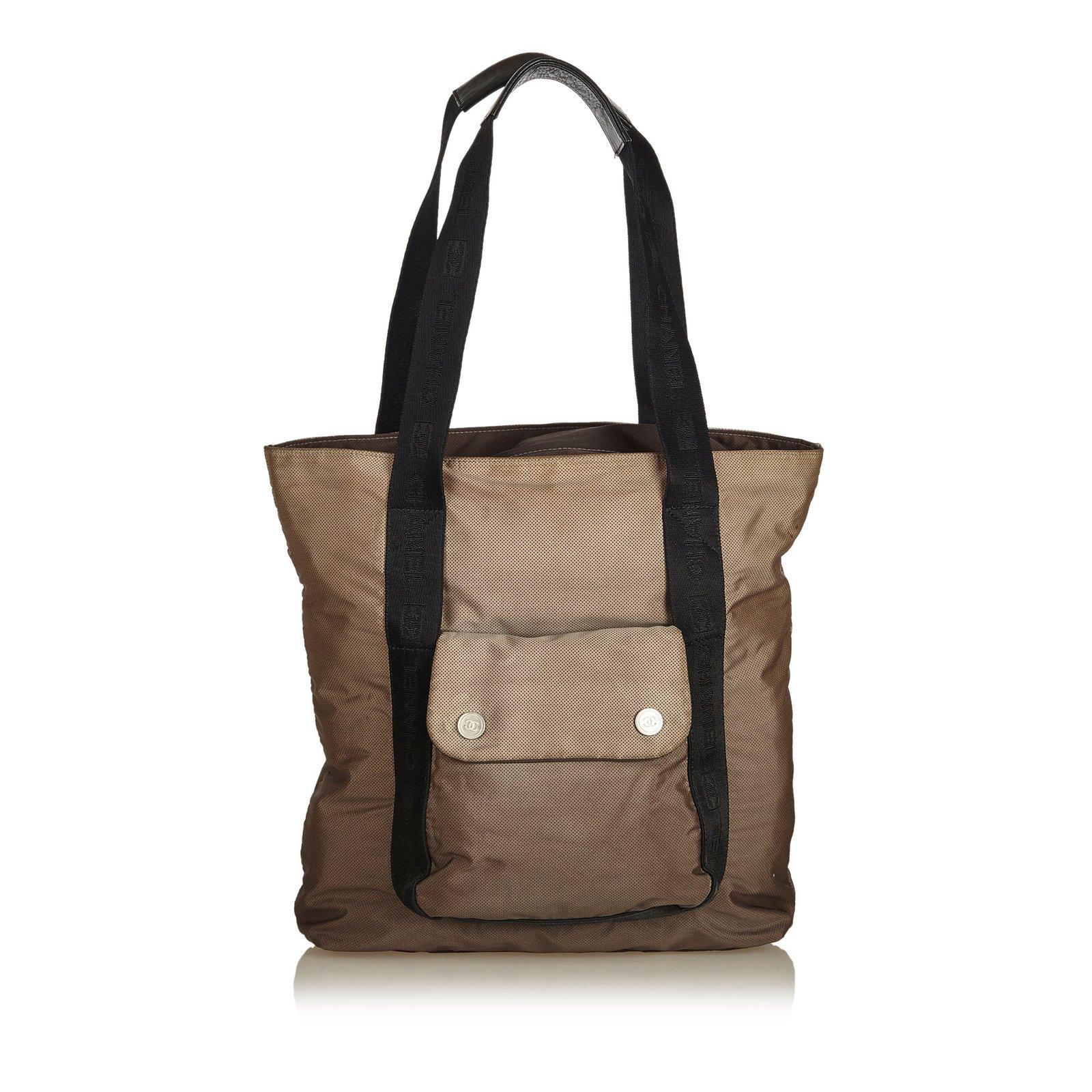 Chanel Nylon Shoulder Bag Handbags Nylon 4cbc52c5482de