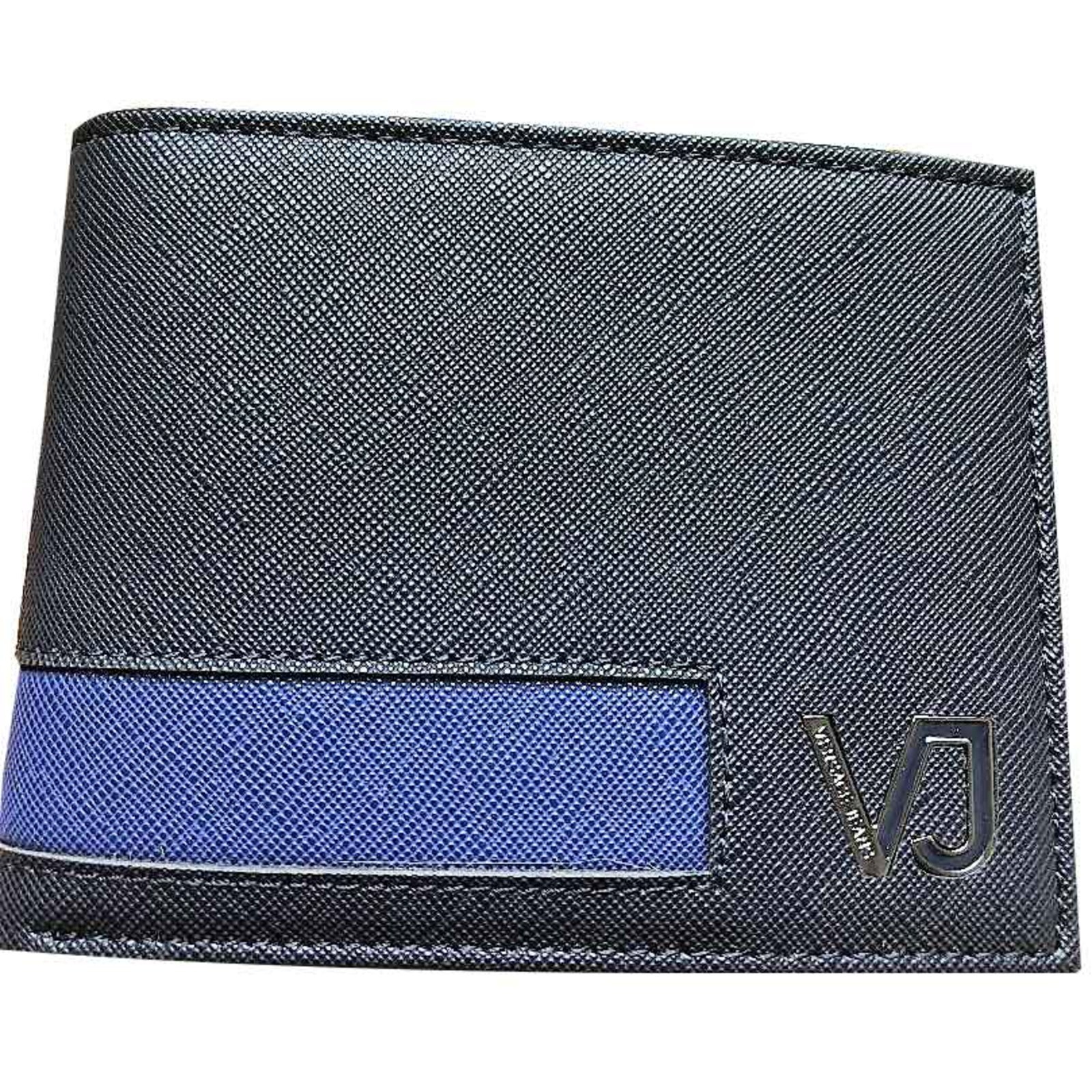 ee6b59e6238 Petite maroquinerie homme Versace PORTEFEUILLE CUIR NEUF HOMME VERSACE  JEANS Cuir Bleu ref.101590