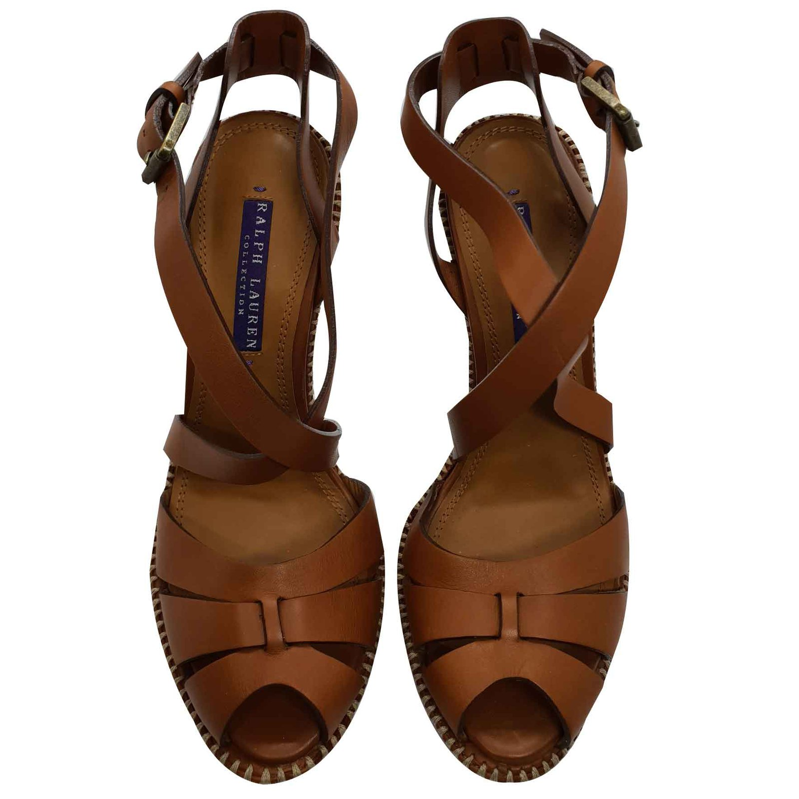 241f6ce114c520 Ralph Lauren Jodene tributes Sandals Leather Brown