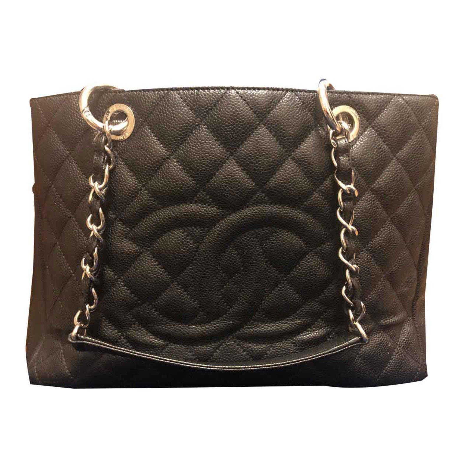 2a93ccd2f488 Chanel Grand shopping Handbags Leather Hazelnut ref.101654 - Joli Closet