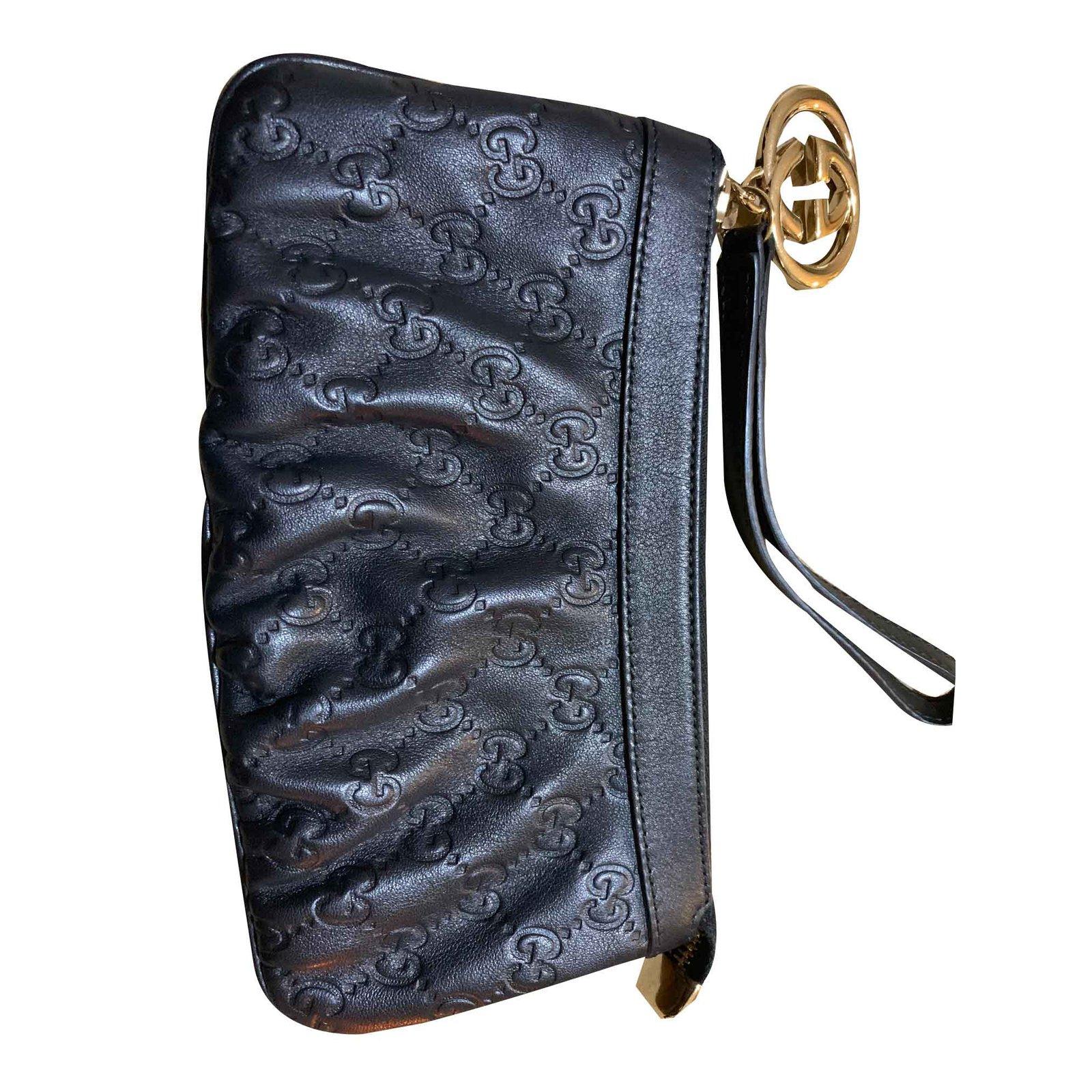 cd2cbfba4ebe Gucci Clutch bags Clutch bags Leather Black ref.101670 - Joli Closet