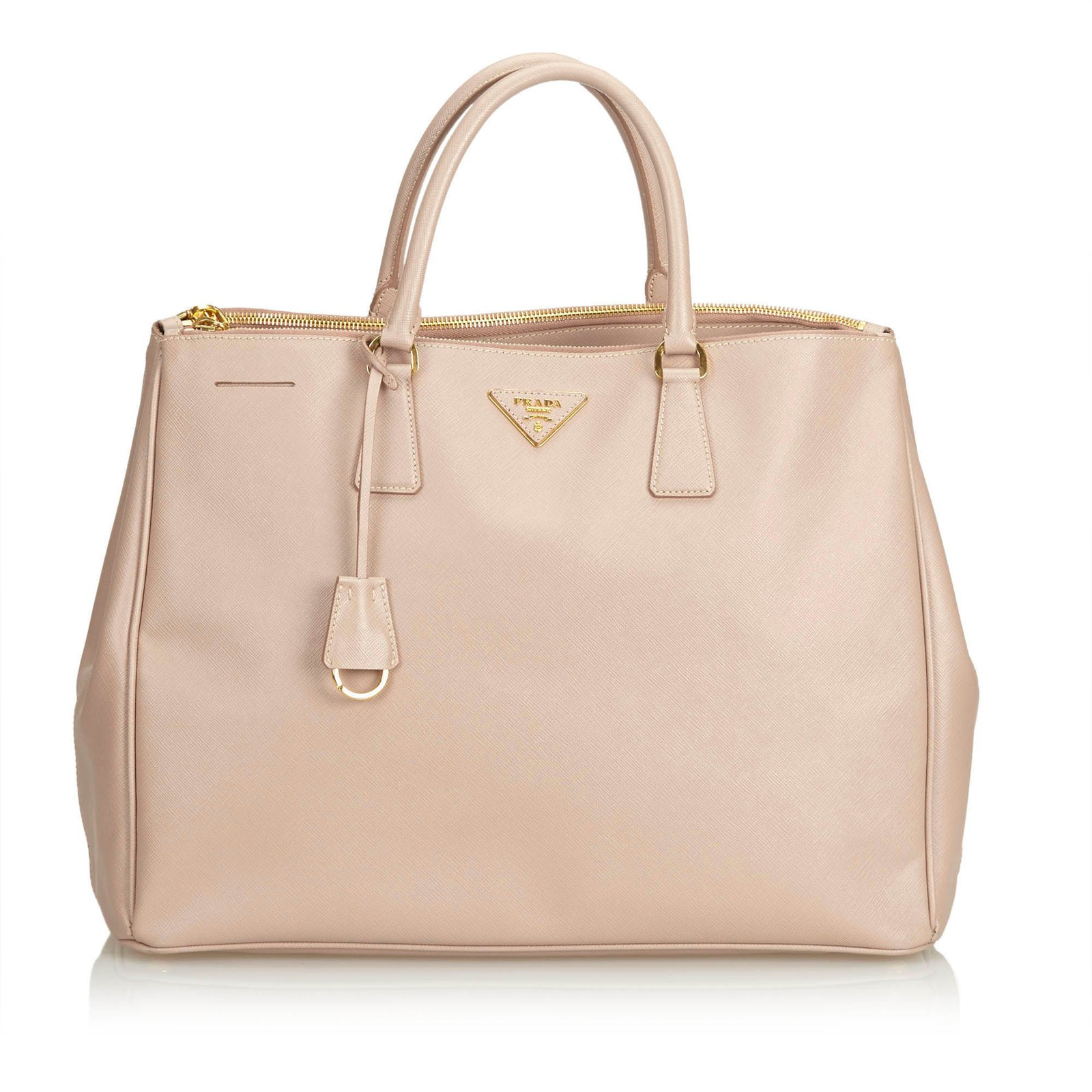 ... inexpensive prada saffiano leather tote bag totes leatherother  brownbeige ref.101949 5c386 65b7c caf0d1ad6a