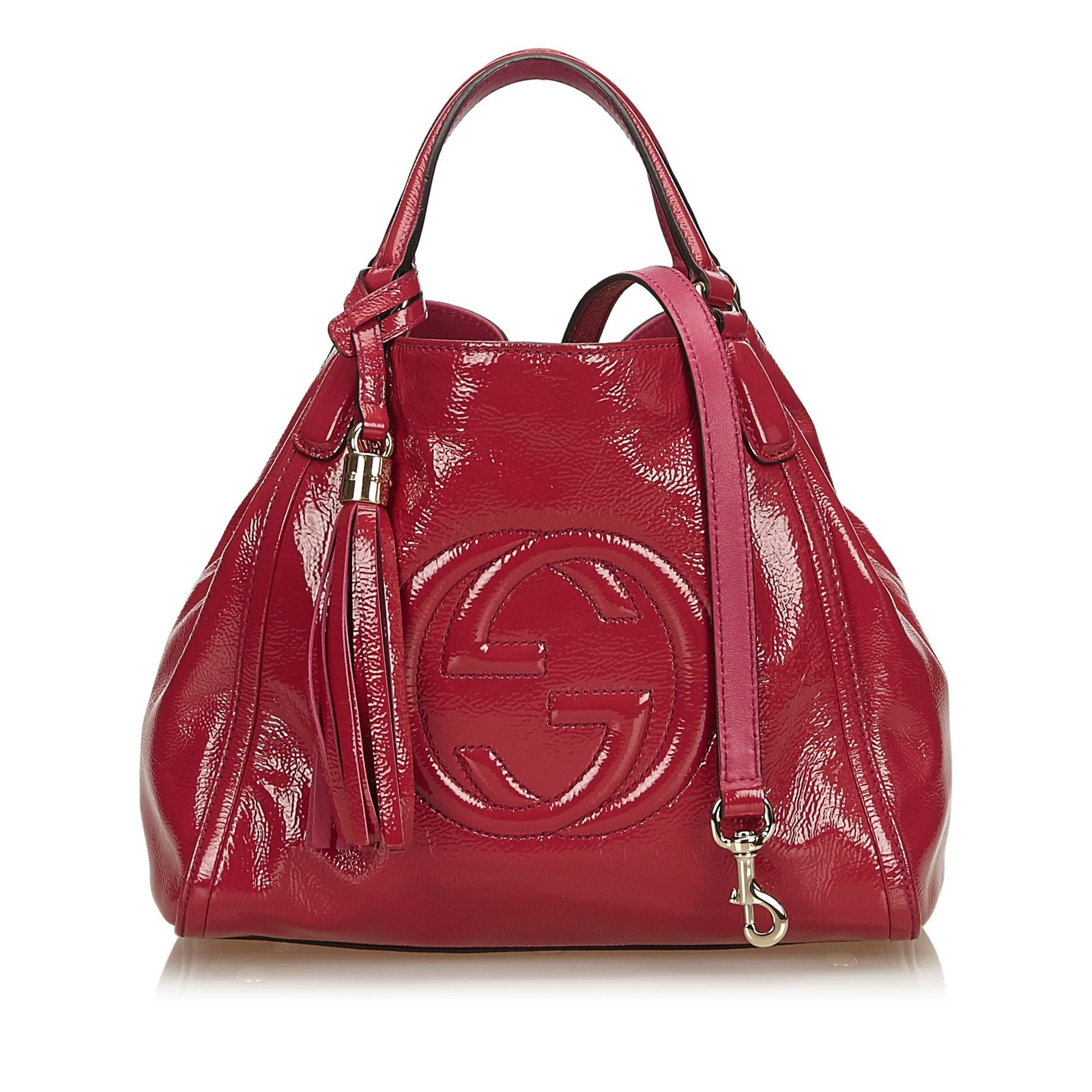 acbad35555a Gucci Soho Patent Leather Tote Bag Totes Leather