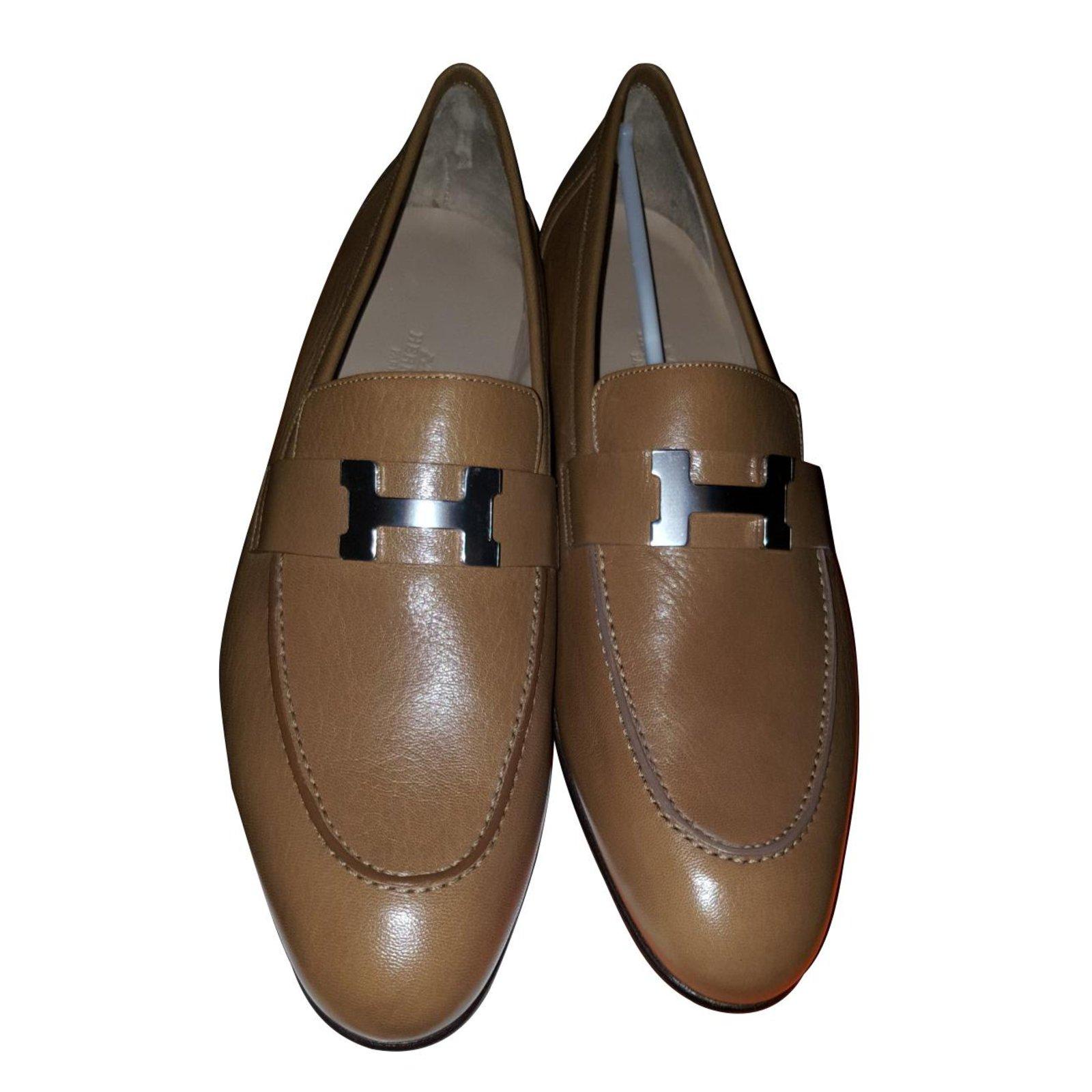 Hermès Paris Loafers Slip ons Leather