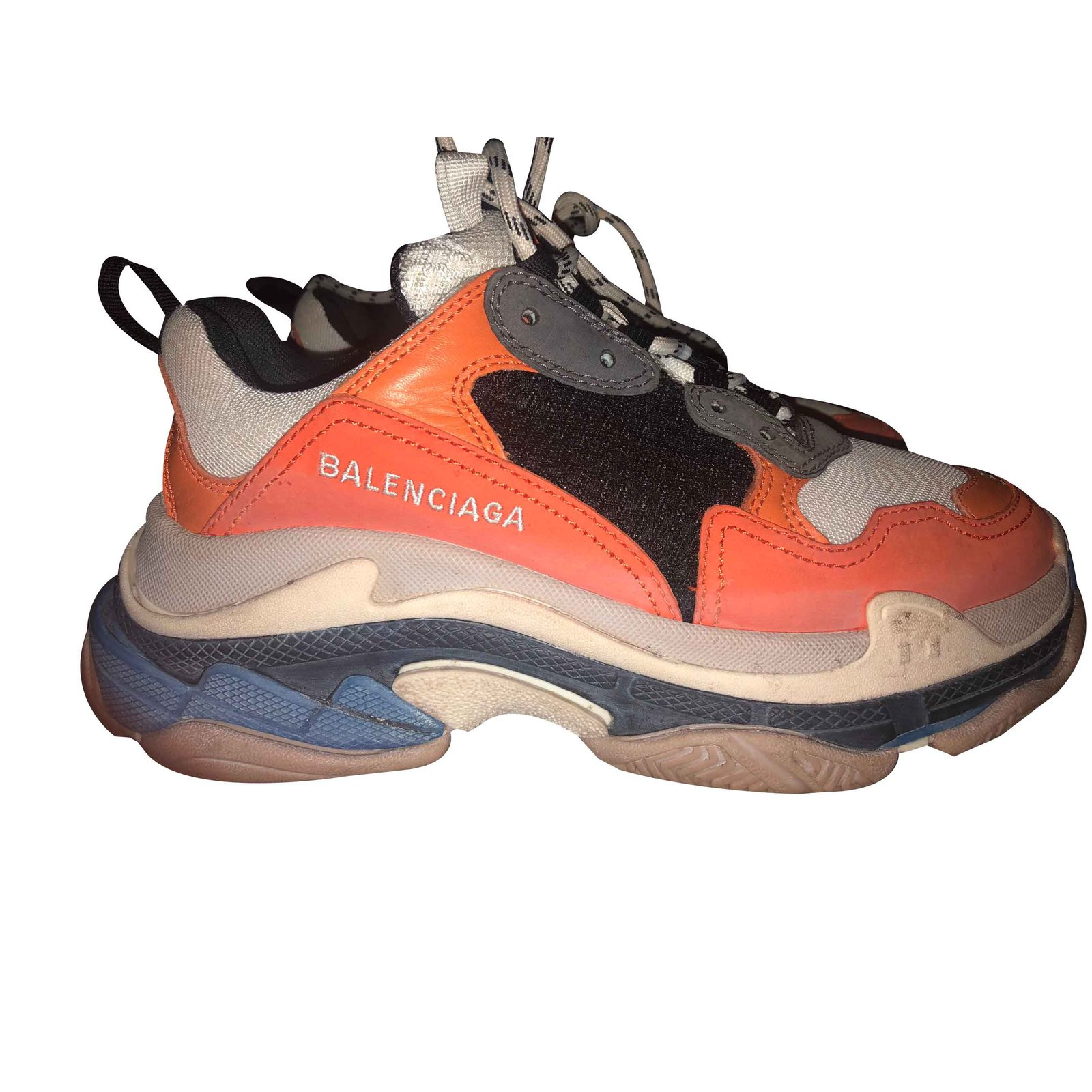 9858fa911b68 Balenciaga Triple s Sneakers Leather Orange ref.102302 - Joli Closet