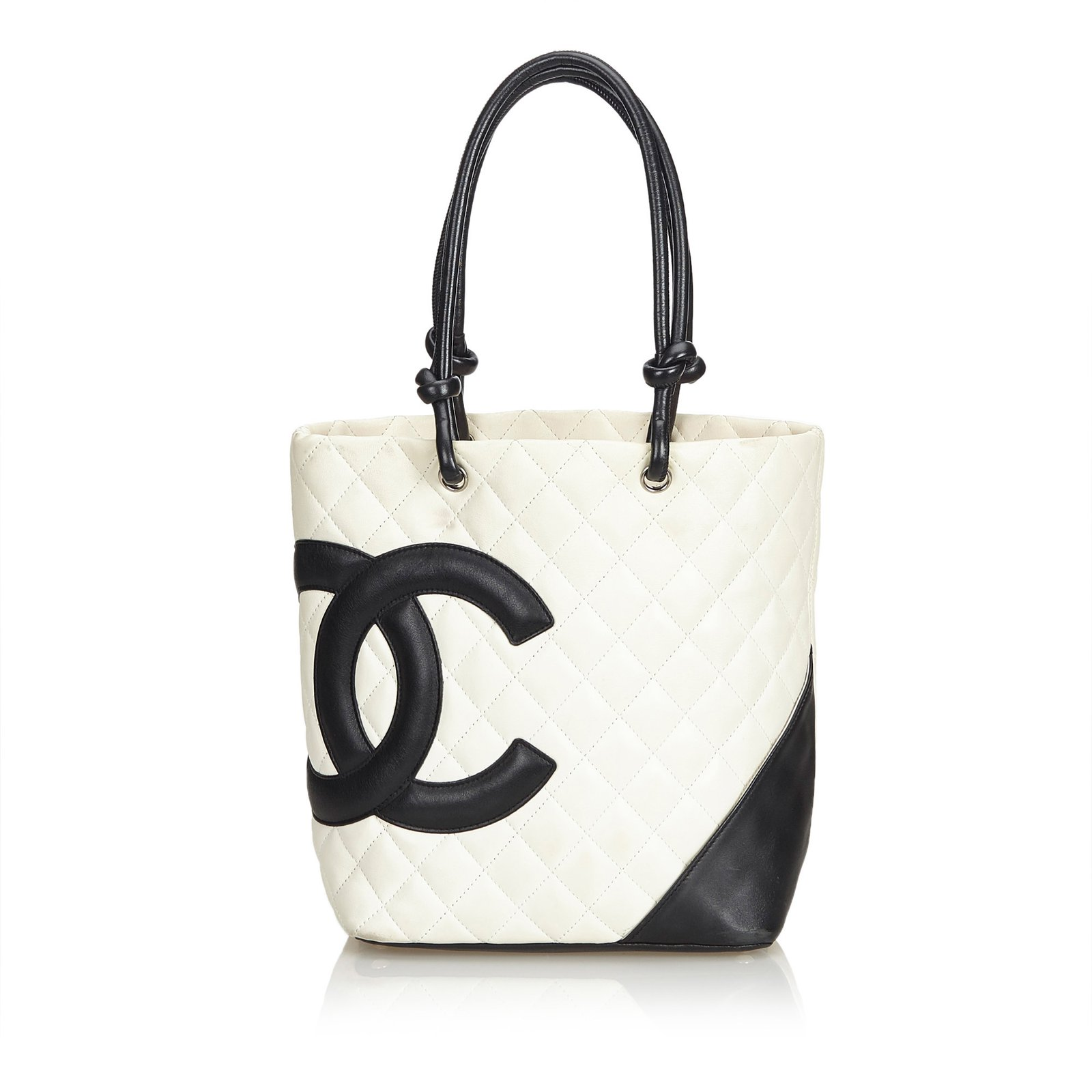 91b1f7a3798ef1 Chanel Cambon Ligne Tote Totes Leather Black,White,Cream ref.102320 ...