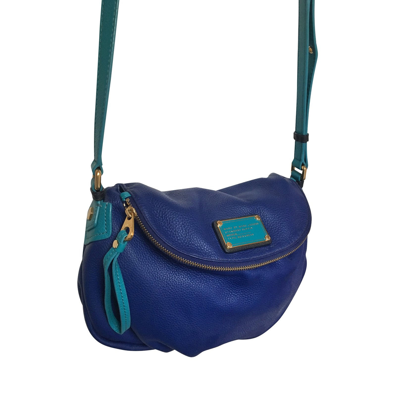 d73e12078f Marc by Marc Jacobs Natasha Marc bag by Marc Jacobs Handbags Leather Blue,Turquoise  ref
