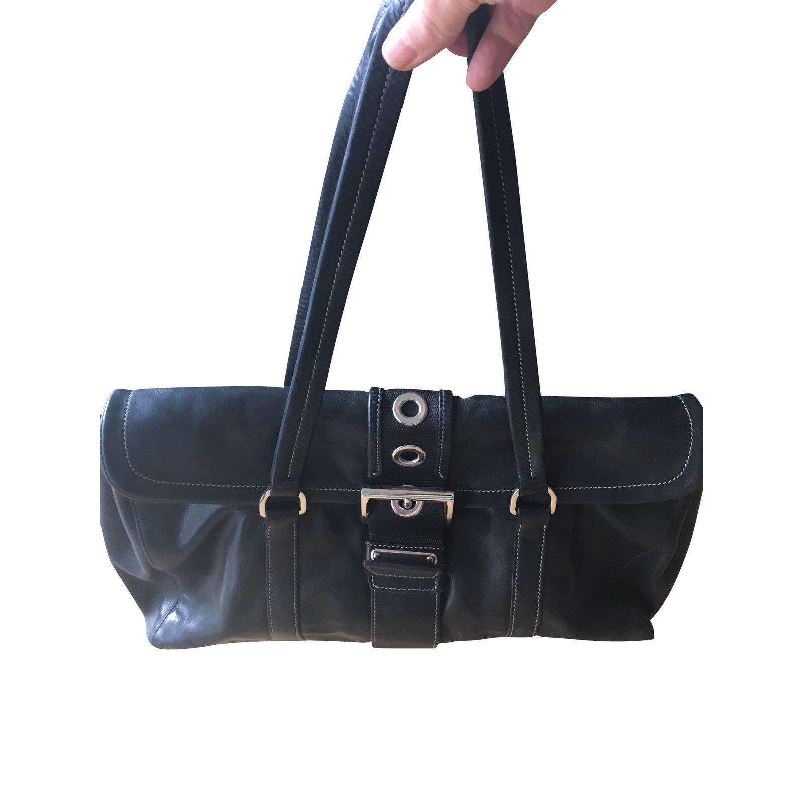 Prada Handbags Handbags Leather Black ref.102398 - Joli Closet d10848bf02368