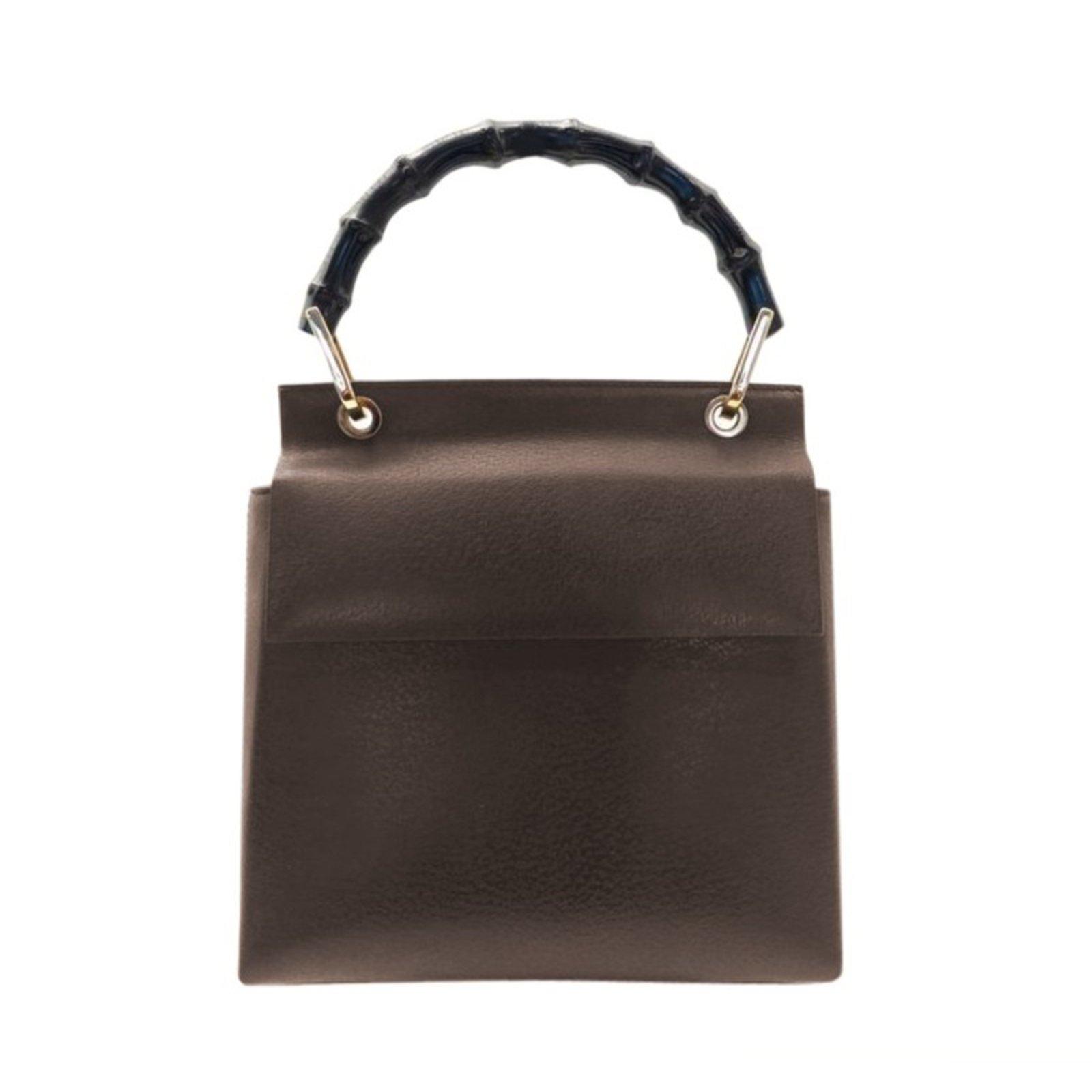 1b95af6094ef Gucci Gucci Metallic and Bamboo Handbag Handbags Leather Brown ref.102508
