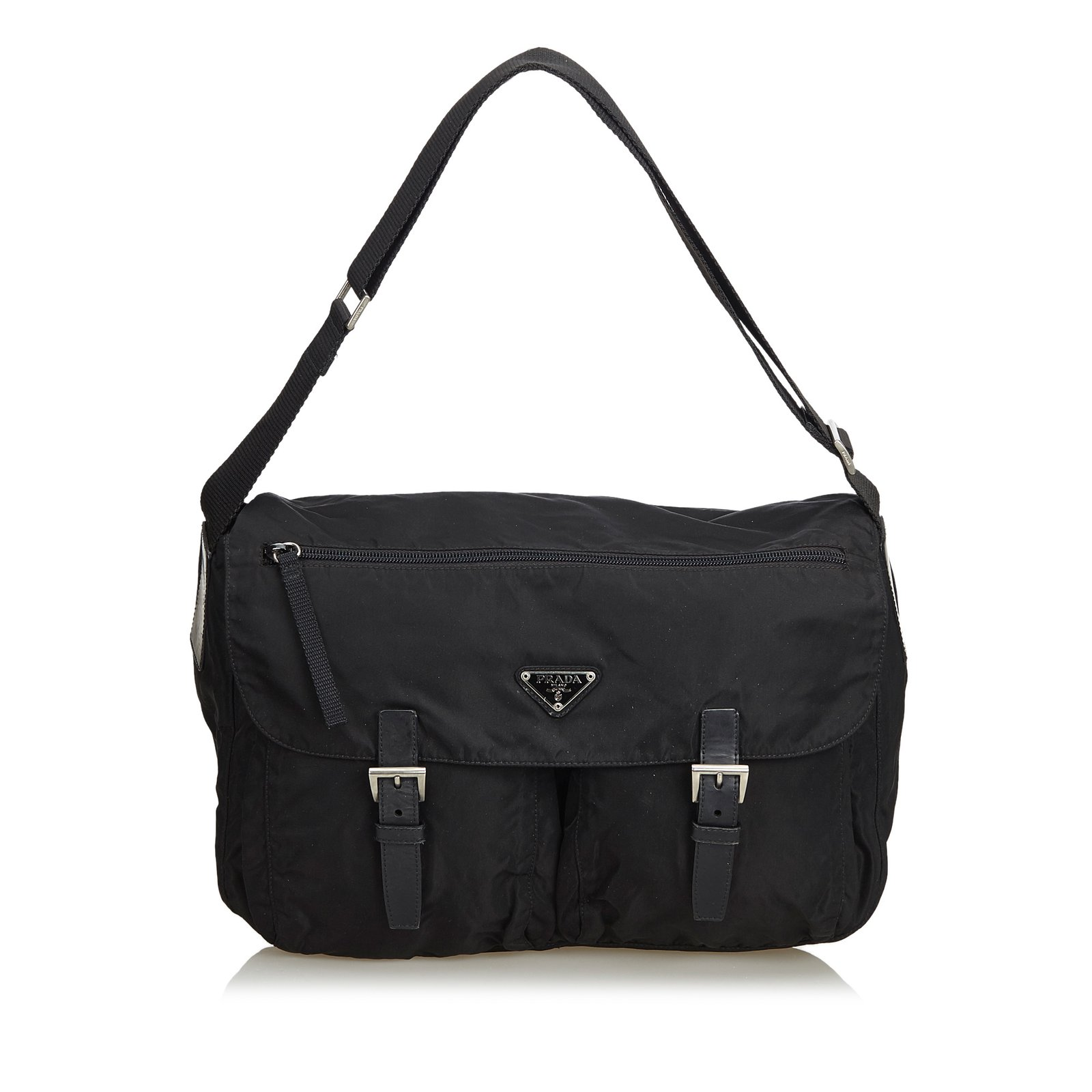 da895a25e1117b Prada Nylon Shoulder Bag Handbags Nylon,Cloth Black ref.103028 ...