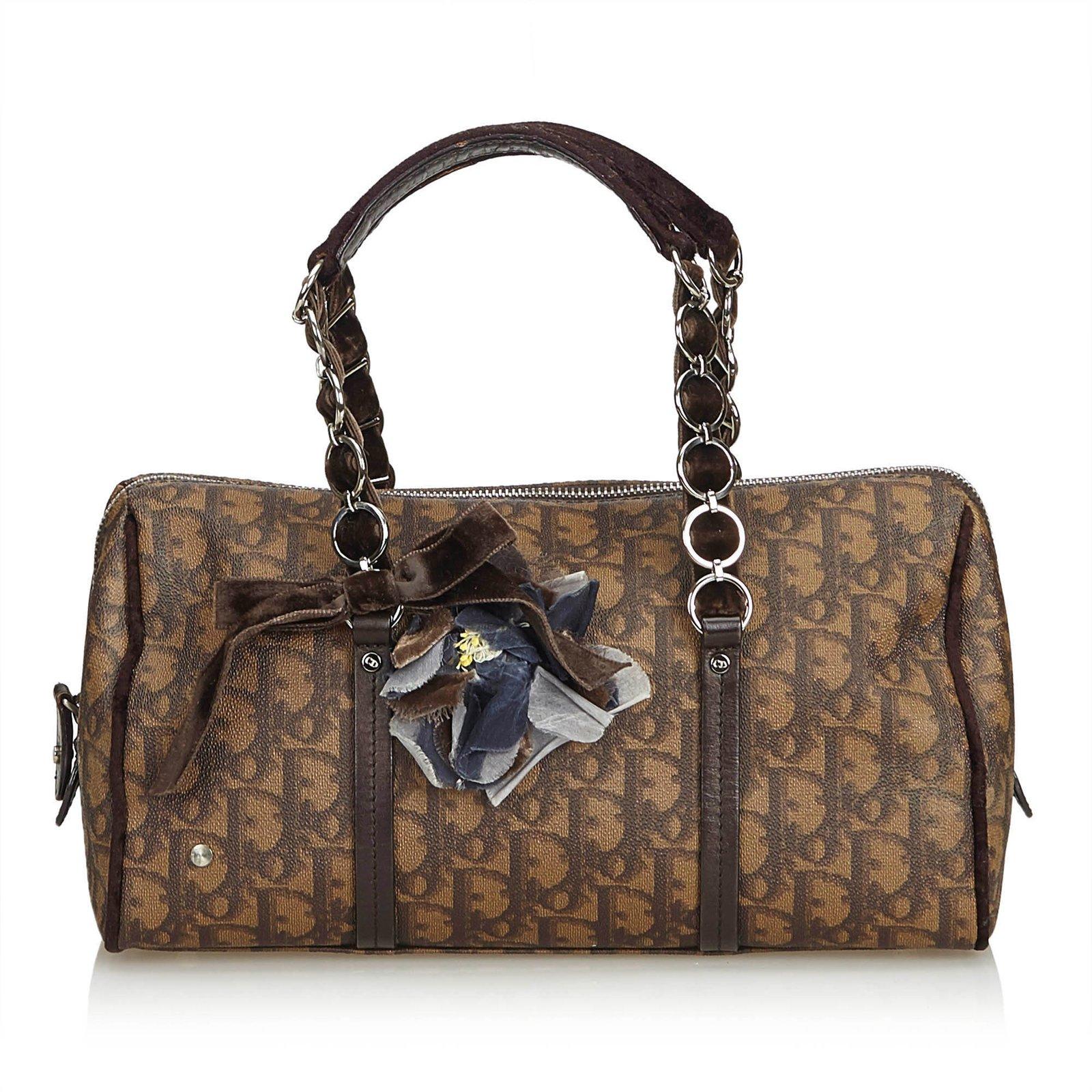74088447e41d Sacs à main Dior Oblique Romantique Sac à main Cuir,Autre,Plastique Marron,