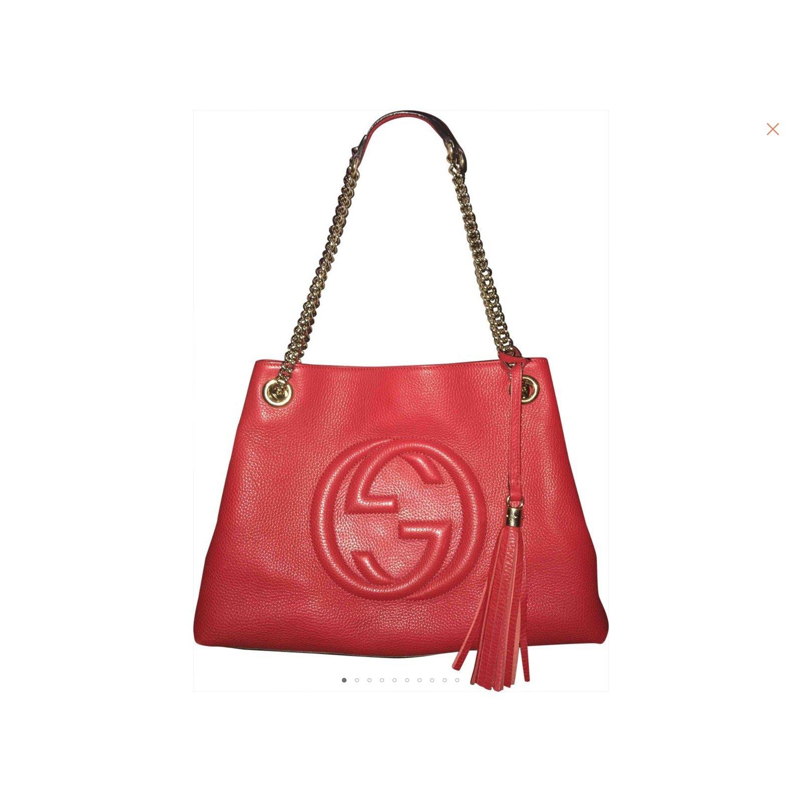 2147bd3e2af04c Gucci SOHO Handbags Leather Red ref.103947 - Joli Closet