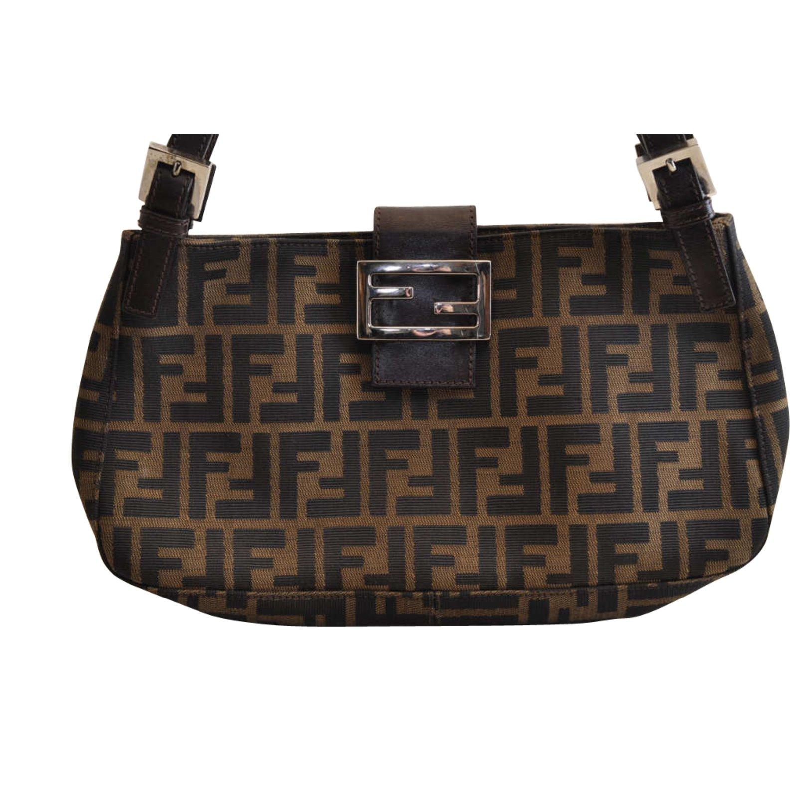 14586bdb98e0 Fendi Fendi Zucca Bucket Canvas Handbags Cloth Brown ref.104004 ...