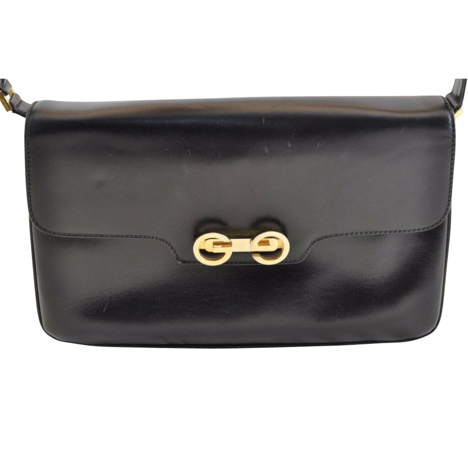 14336e18467a Sacs à main Gucci Sac bandoulière Cuir Noir ref.104138 - Joli Closet