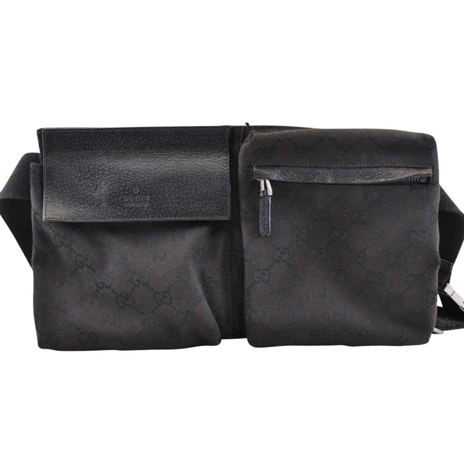 a26c6bbc5088 Gucci Waist bag Handbags Cloth Black ref.104343 - Joli Closet