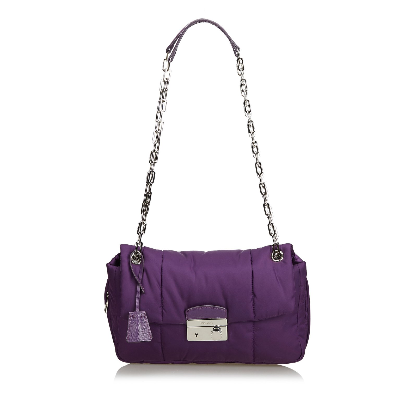 d52f21a47fcf67 ... canada prada nylon bomber shoulder bag handbags leatherothernyloncloth  purple ref. 27d5a cdac2