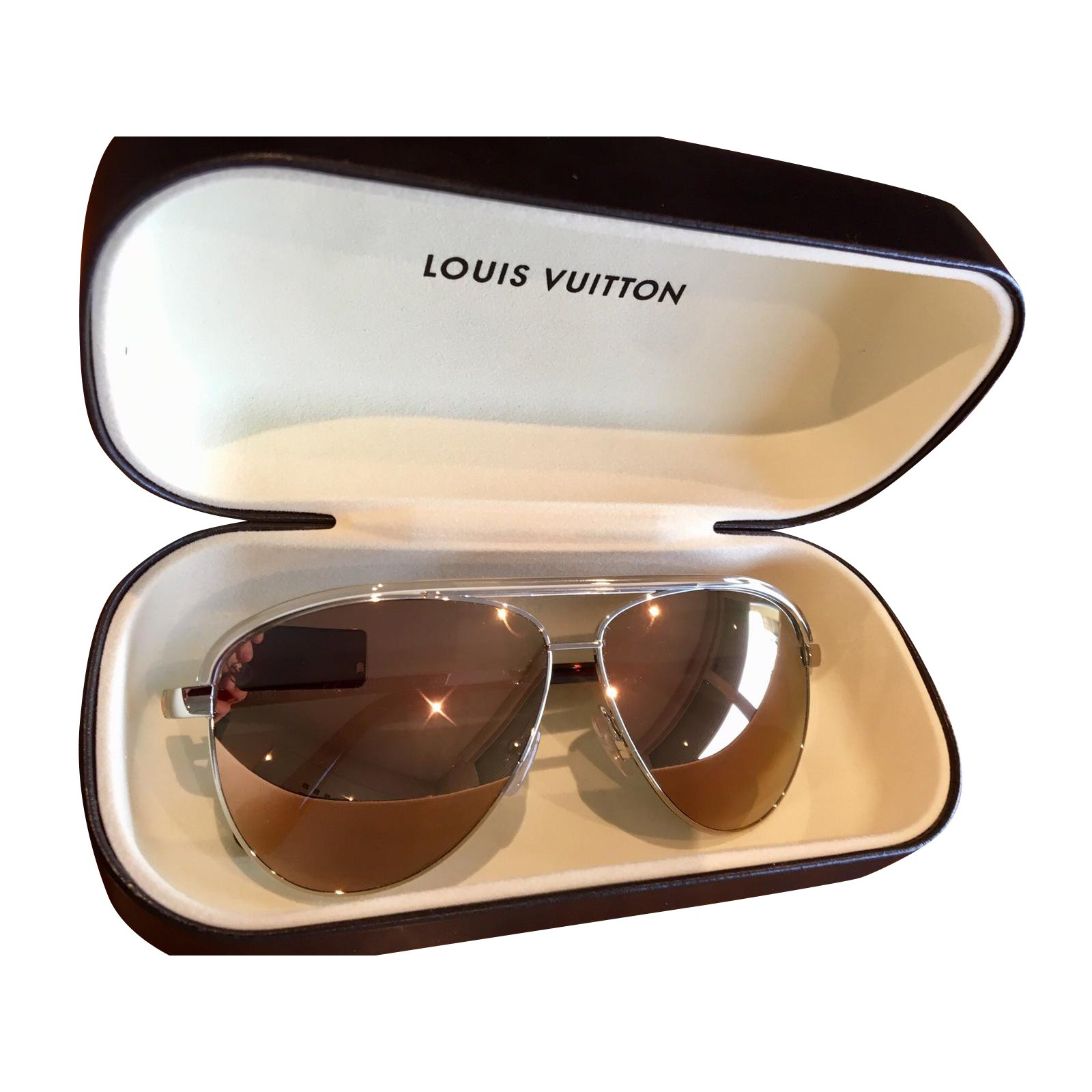 Lunettes Louis Vuitton LUnettes de soleil pour femme Louis Vuitton Z0858U  Autre Rose,Doré ref 91e9af4d0297
