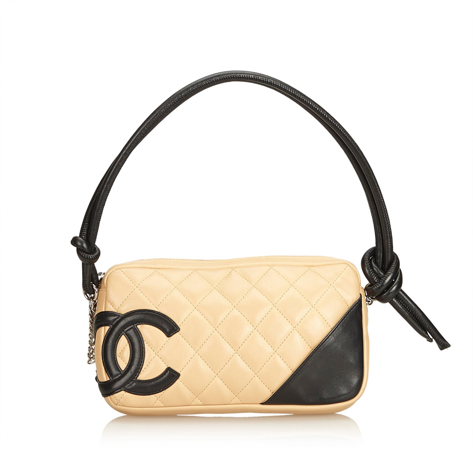 eb28e7c67219dc Chanel Cambon Ligne Pochette Handbags Leather Brown,Black,Beige ref.99743