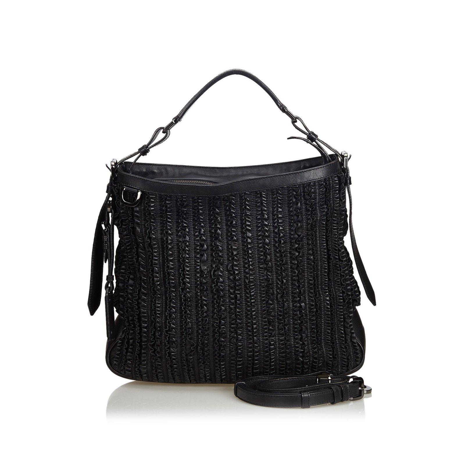 0c47fa0364dd Burberry Frilled Leather Hobo Bag Handbags Leather
