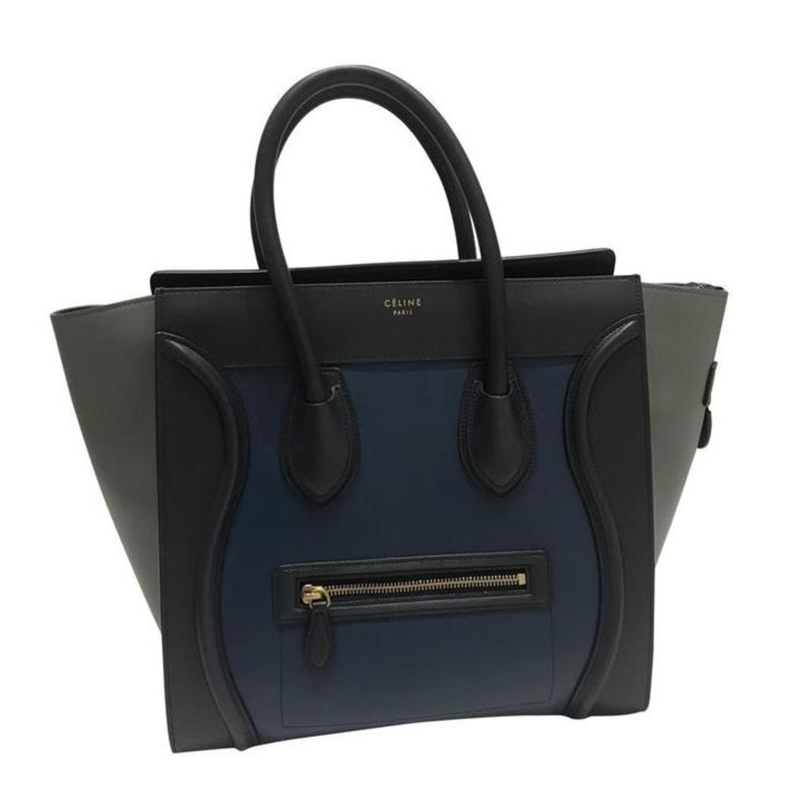 Céline Mini Luggage Handbags Leather Navy blue ref.105664 - Joli Closet 9a91b400898c1