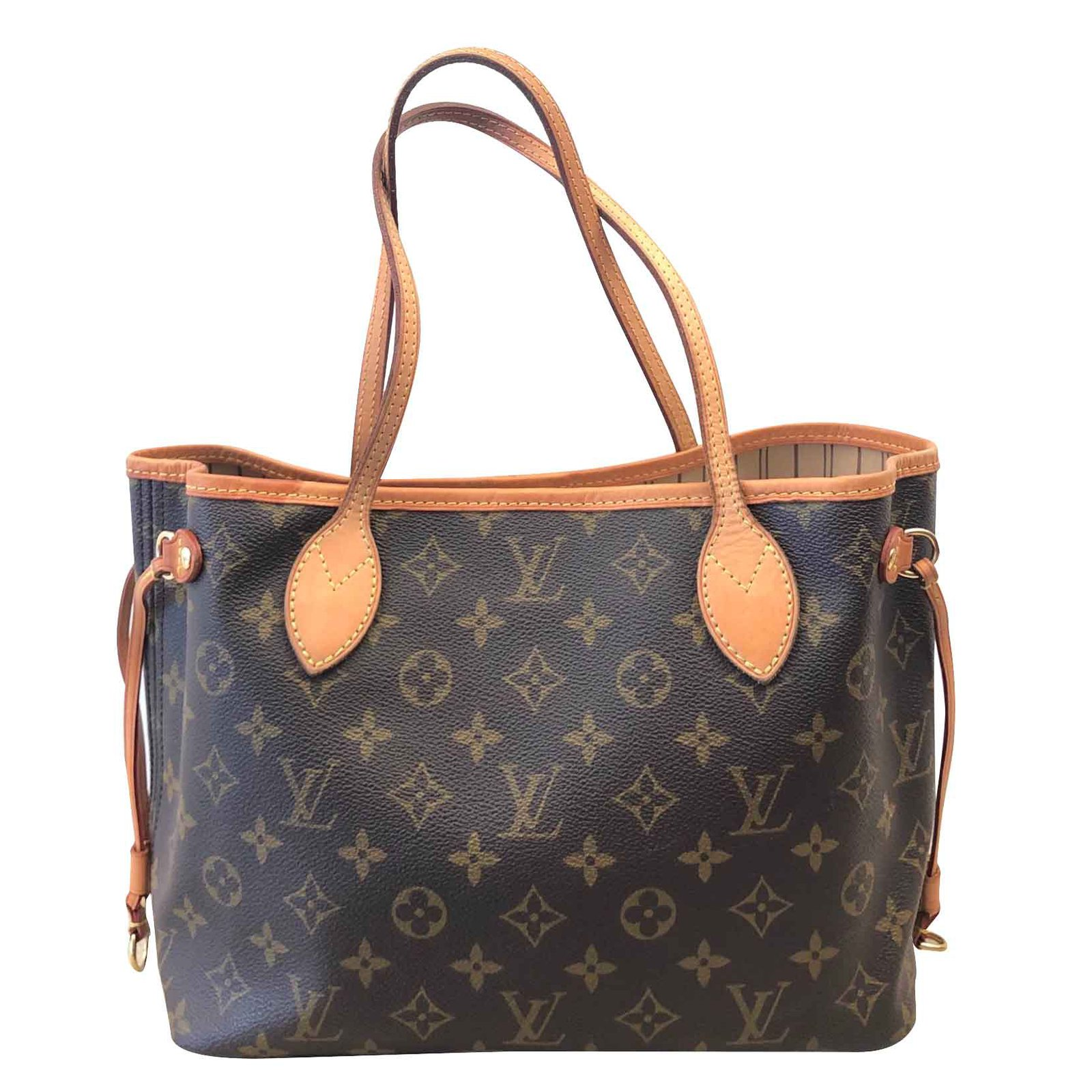Sacs à main Louis Vuitton Sac Louis Vuitton Neverfull Toile Marron  ref.105668 05af8e31af4