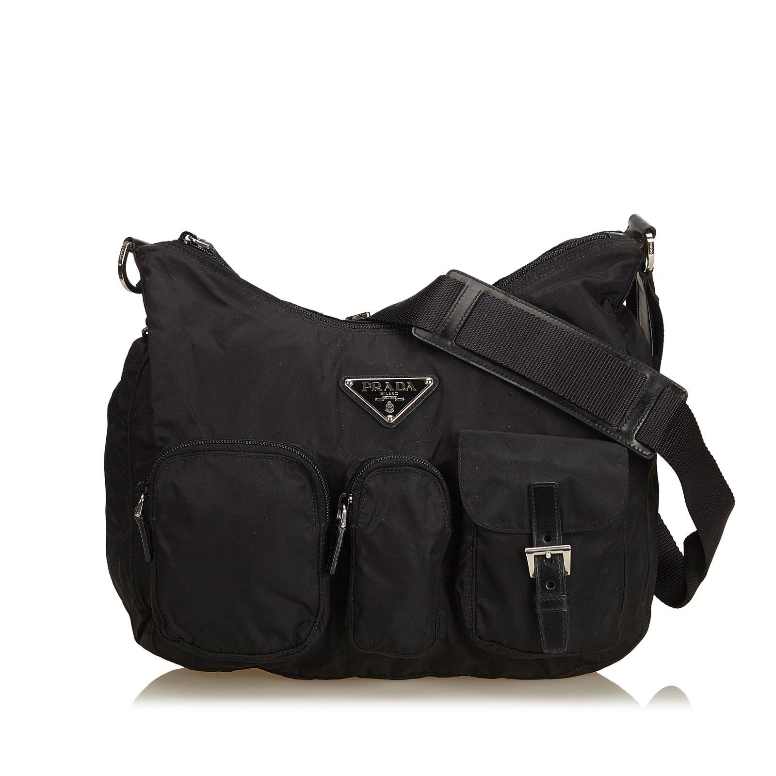 845331724111 Prada Nylon Crossbody Bag Handbags Nylon,Cloth Black ref.106043 ...