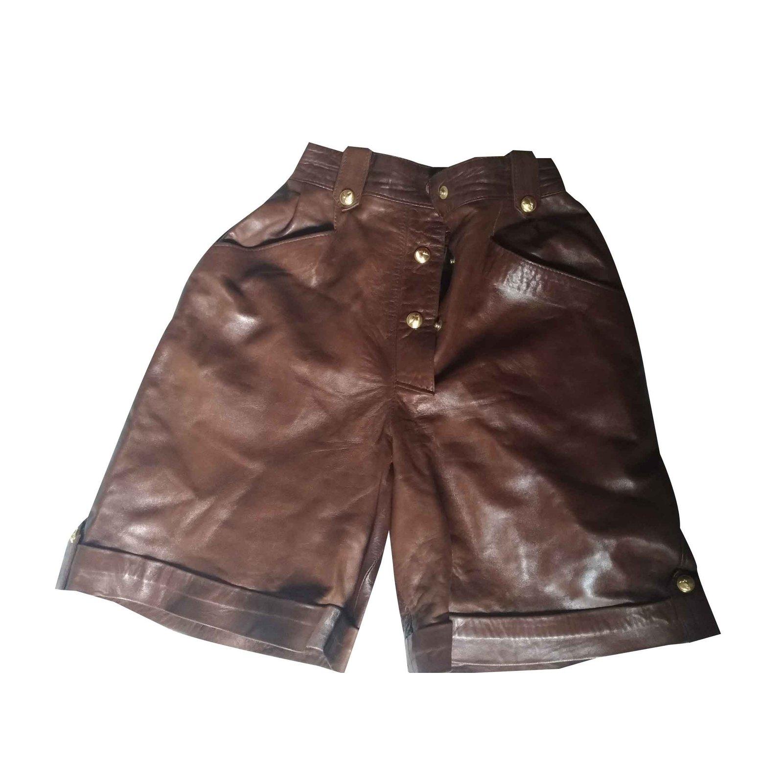 Shorts Autre Marque Short en cuir \