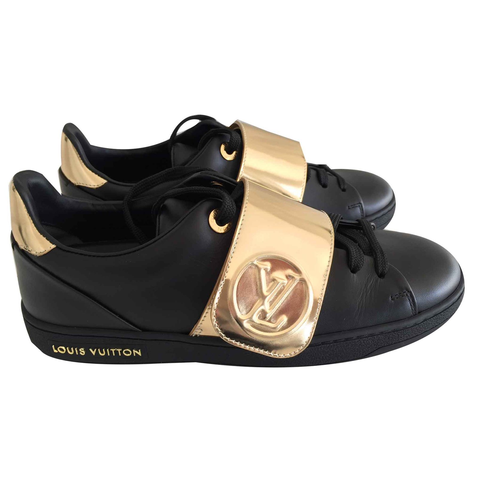 a99b63c2830d Louis Vuitton Frontrow sneaker Sneakers Leather Black ref.106407 ...