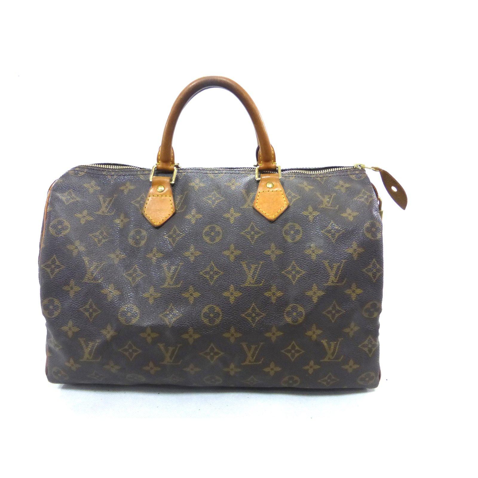 94656d37becd Louis Vuitton Speedy 35 Monogram Handbags Leather Brown ref.106564 ...
