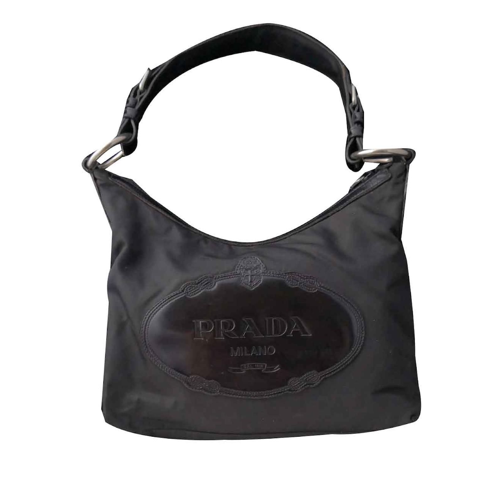 113efb6164ea Prada Superb authentic big Prada logo bag Handbags Leather