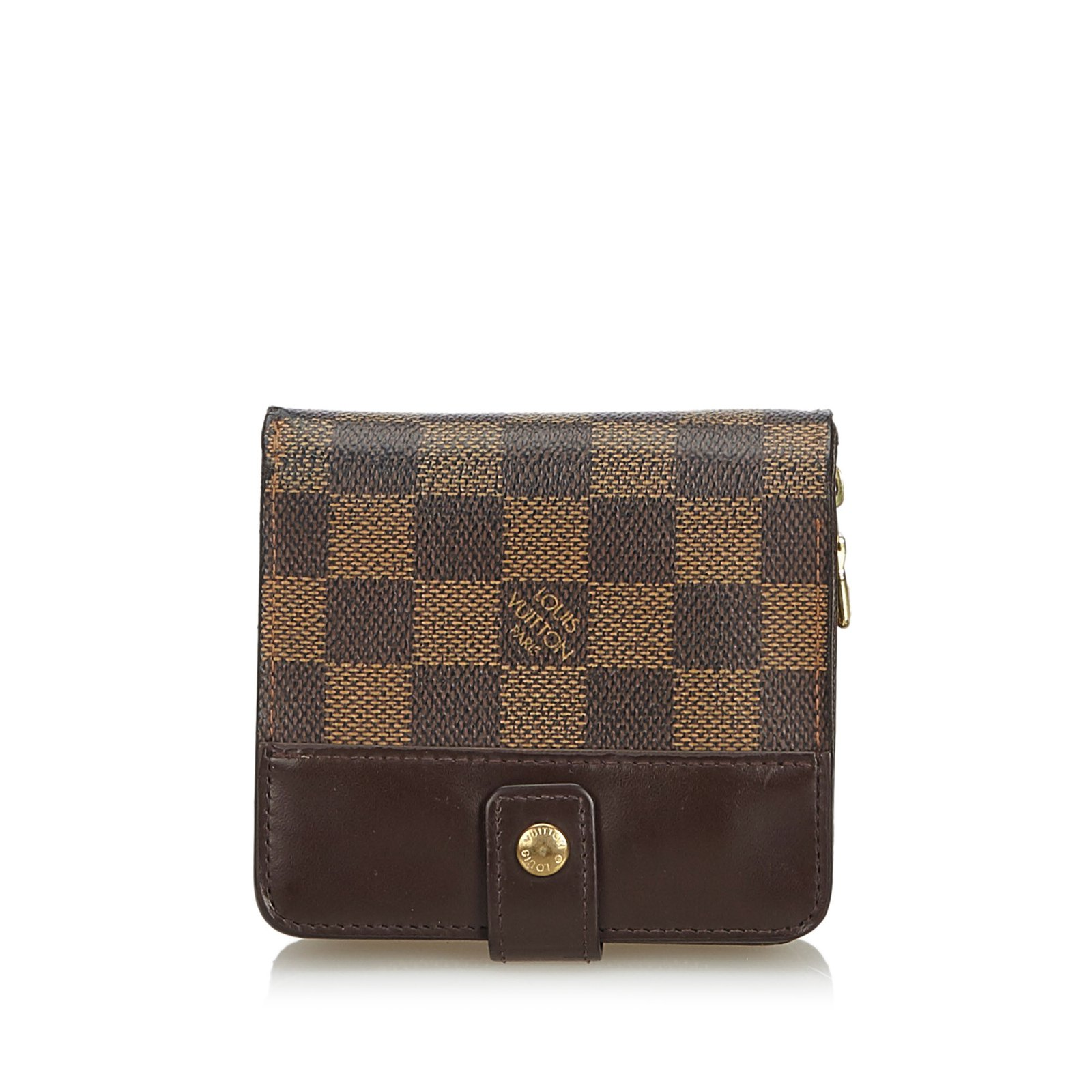 13af188a7e891 Louis Vuitton Damier Ebene Pact Zip Wallet Misc Leather Other