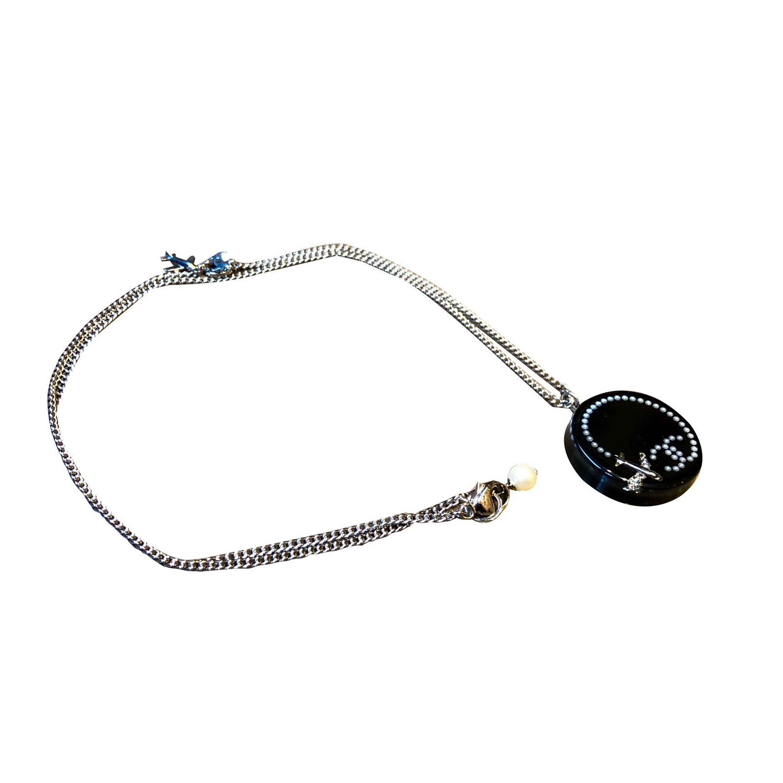 79f0cb19b2371a Chanel Sublime chanel necklace Necklaces Steel,Resin Black,Silvery  ref.108092
