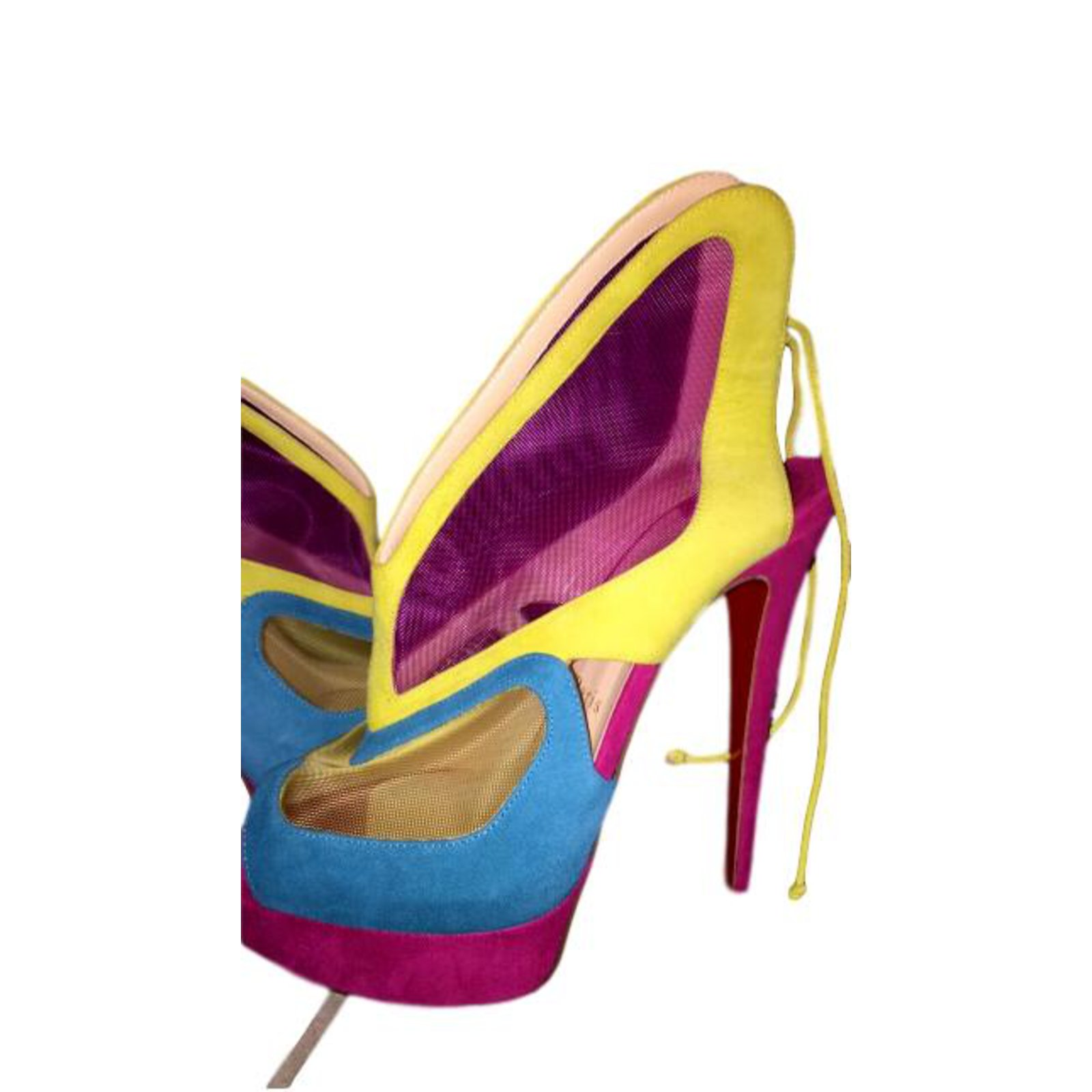 91a41aa29d5 Christian Louboutin Louboutin Heels Velvet Multiple colors ref.108116