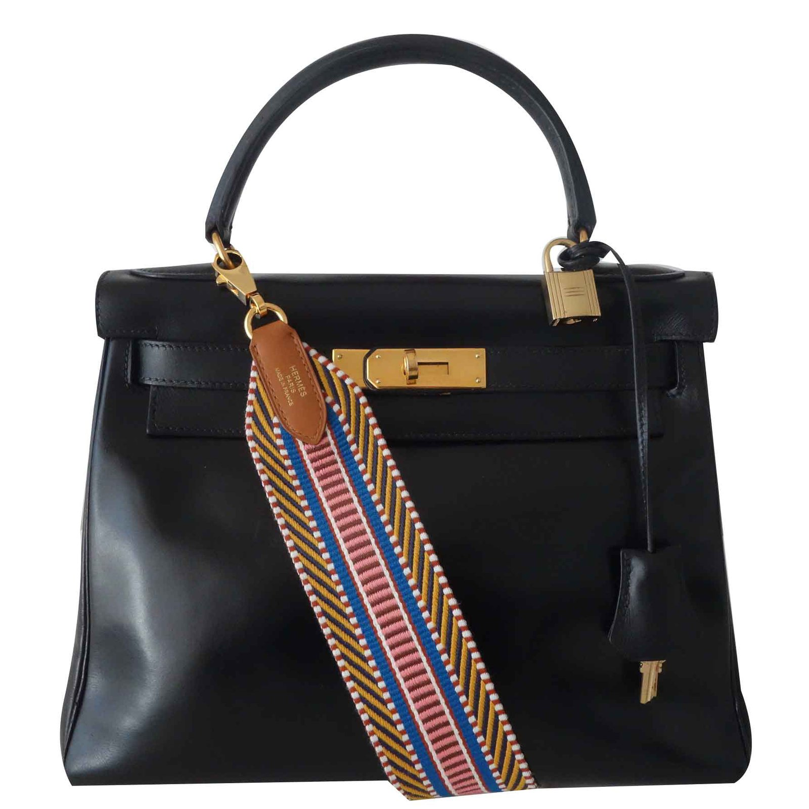 07b83c4e2845 Hermès Vintage Hermes Kelly bag 28 Handbags Leather Black ref.108345 ...