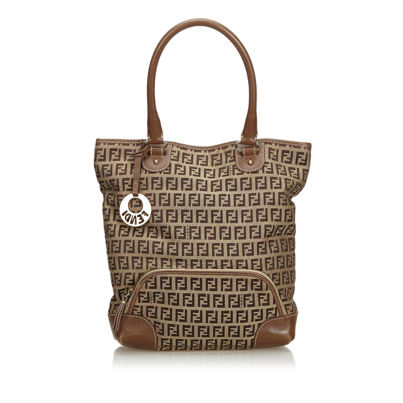 3162bdaac71e Fendi Zucca Jacquard Tote Bag Totes Leather