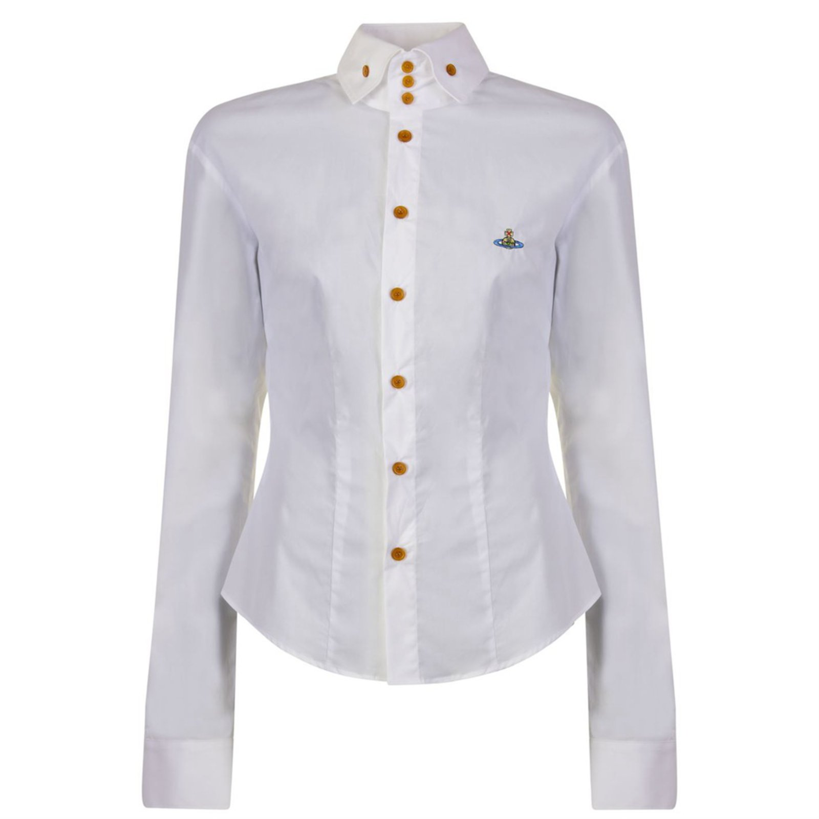 c4311de6d4 Vivienne Westwood Krall Orb shirt in white Tops Cotton,Elastane White  ref.109200