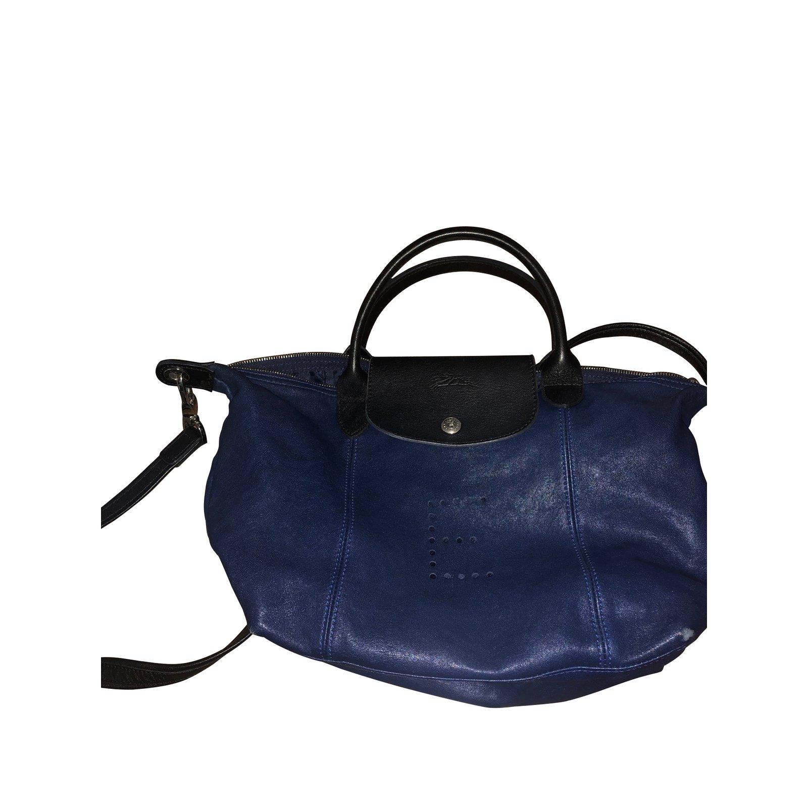Longchamp bag folding custom leather