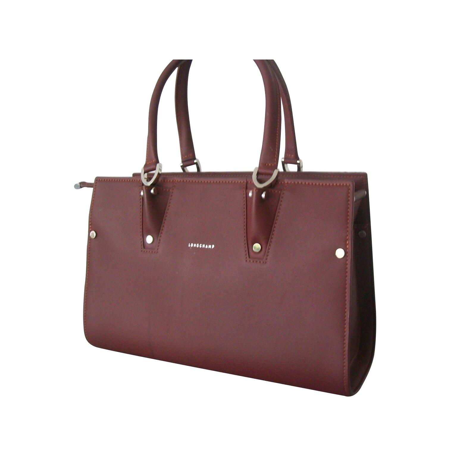 756bd87cc5 Longchamp Handbag PARIS PREMIERE longchamp Size S Handbags Leather Dark red  ref.109291