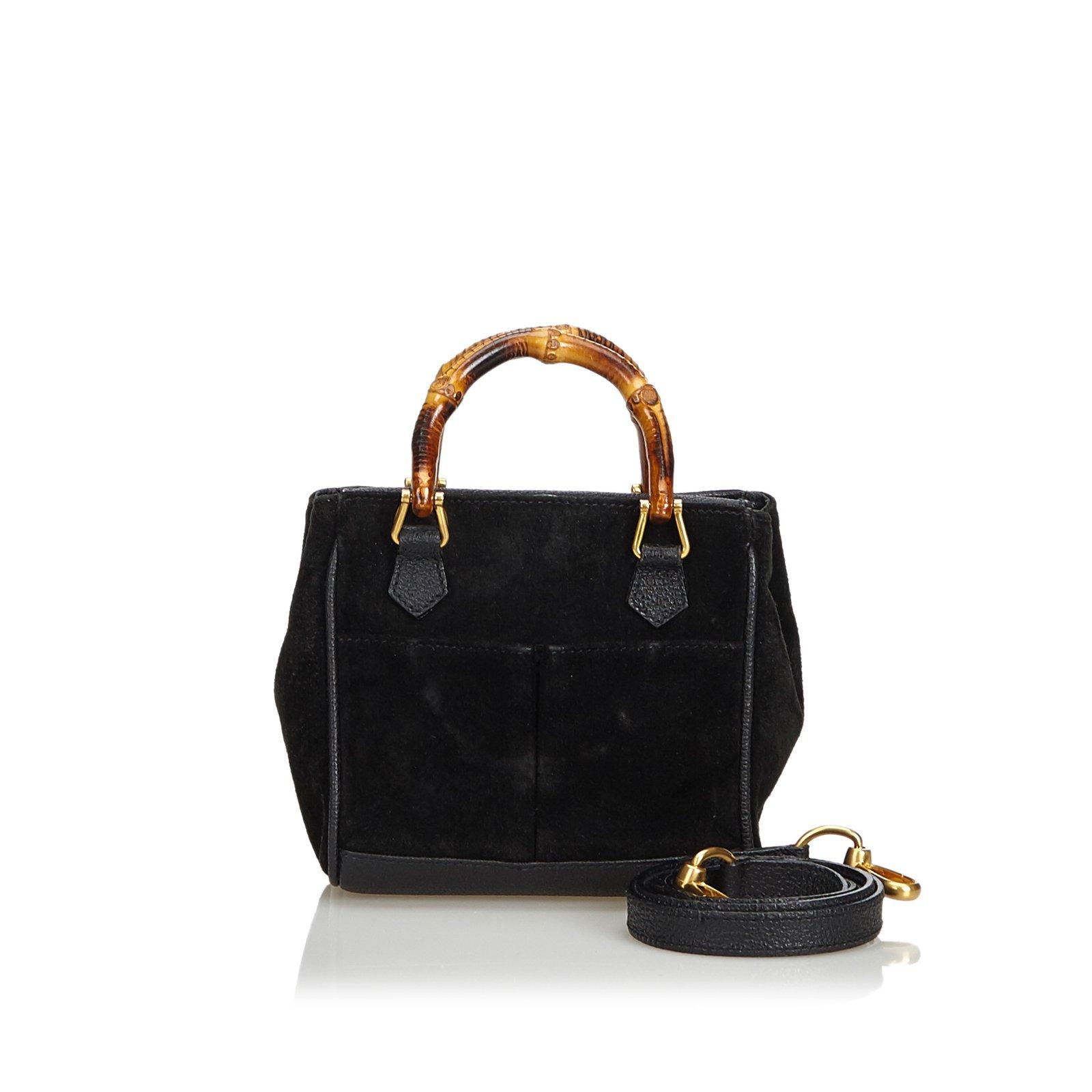 953fa19a8404 Gucci Bamboo Suede Satchel Handbags Suede