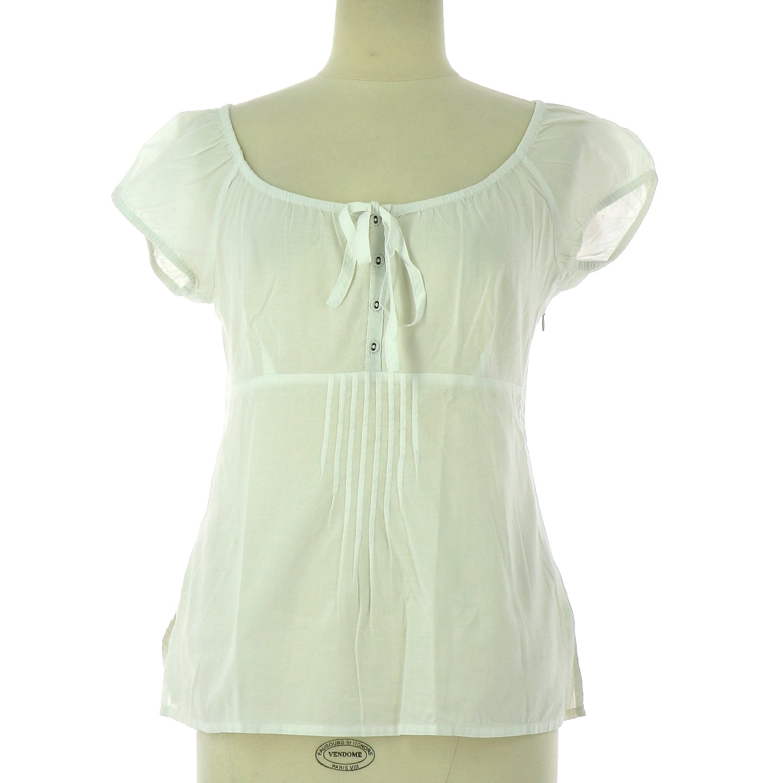 b5e4242f98091 Autre Marque Wrap blouse Tops Cotton White ref.109737 - Joli Closet