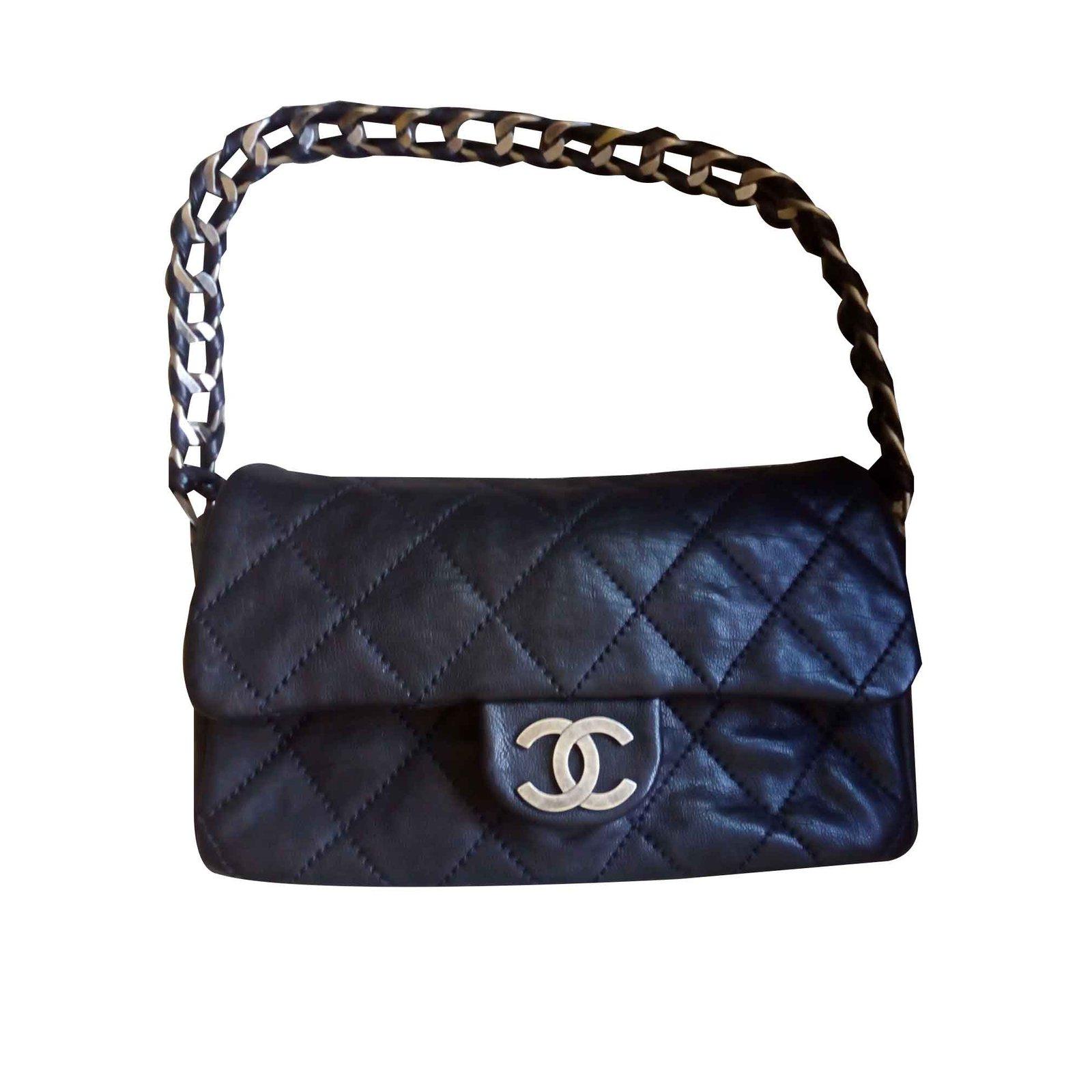 269d16da56dbcb Chanel 2.55 Handbags Leather Black ref.109821 - Joli Closet