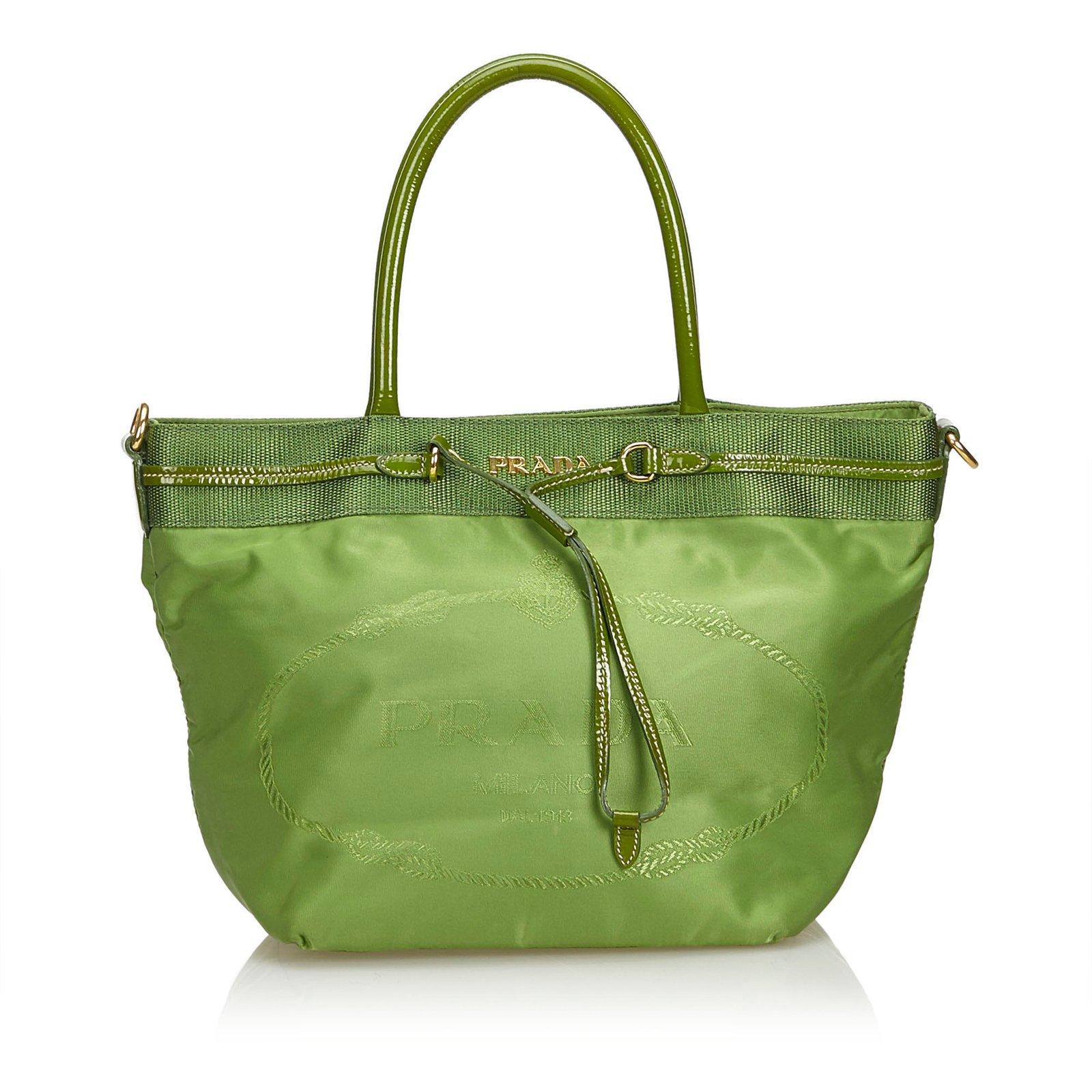 3f92e5cdab9d7 Prada Tessuto Nylon Tote Bag Totes Leather