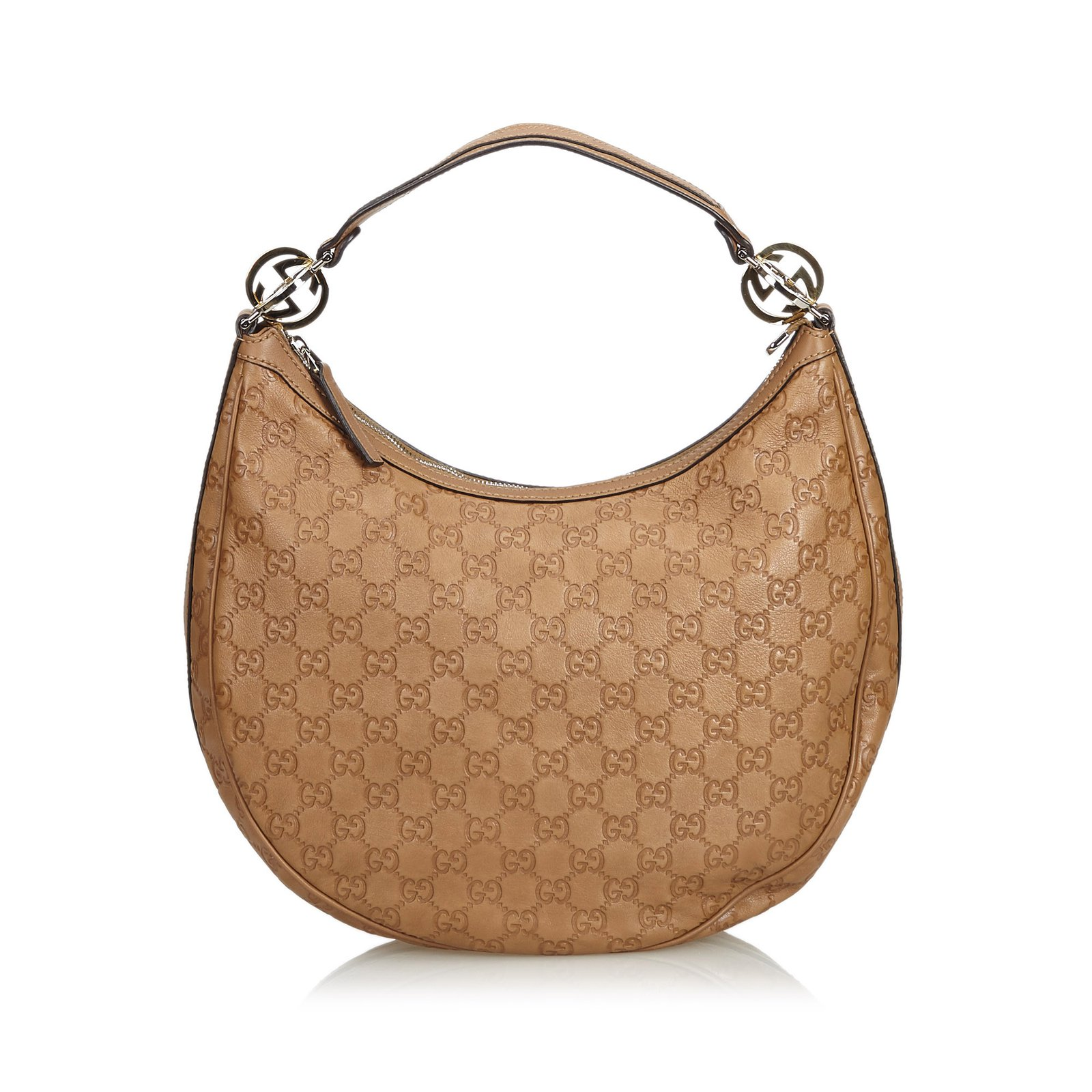 cb748311c Gucci Guccissima Twins Hobo Bag Handbags Leather,Other Brown ref.109946