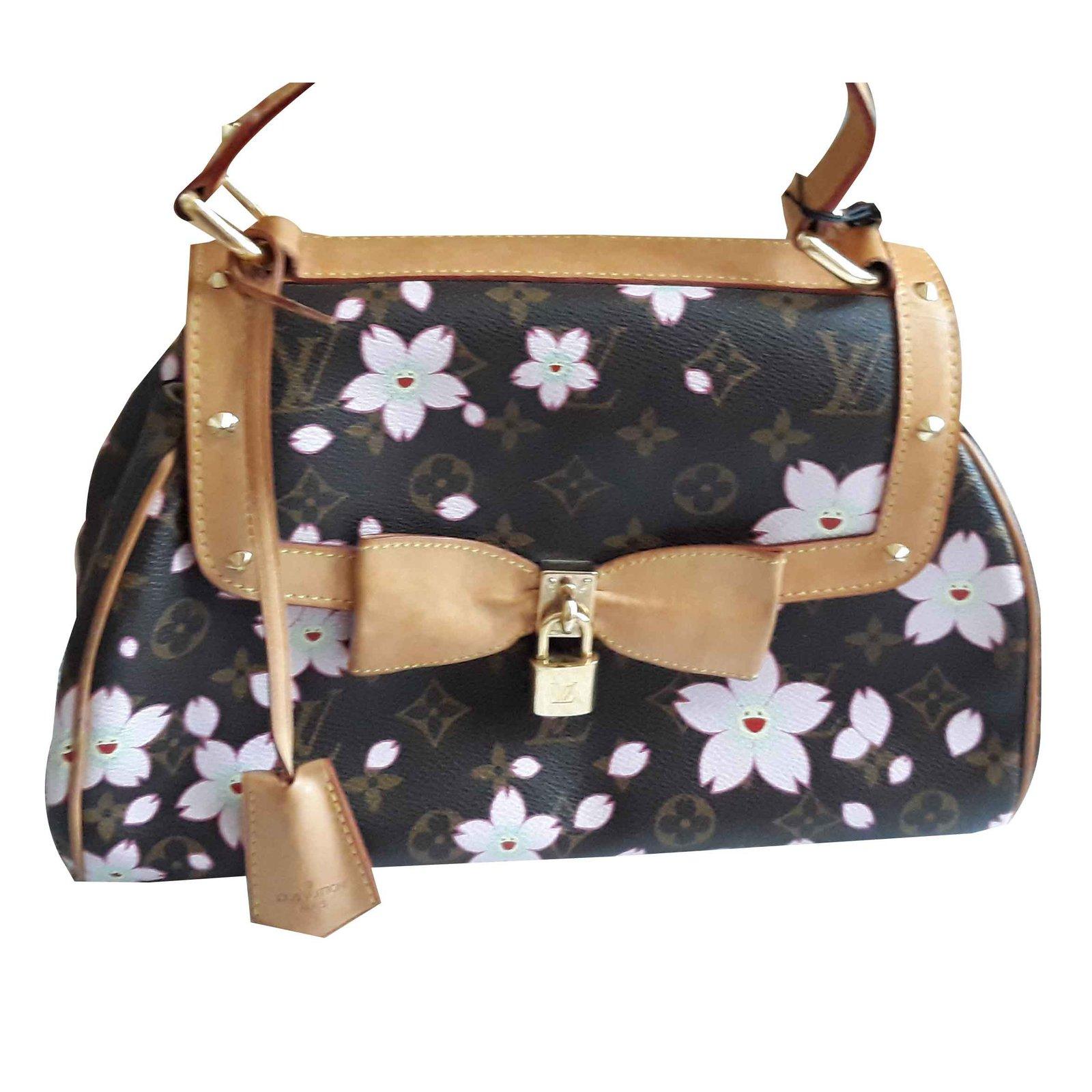 67803d3b92ed Louis Vuitton Louis Vuitton Cherry Blossom retro bag x Takashi Murakami  Handbags Cloth Brown ref.