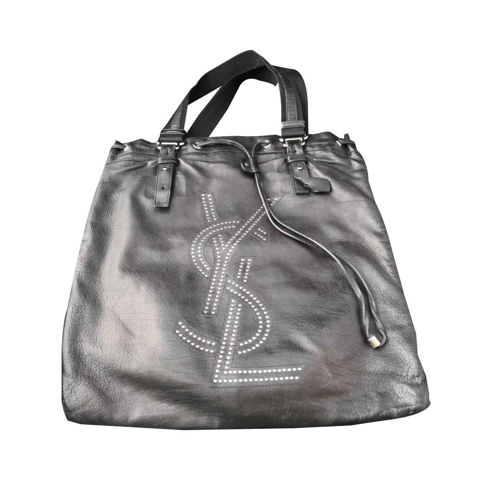f85e2d6a6e Yves Saint Laurent Beautiful Yves Saint Laurent tote bag Handbags Lambskin  Black