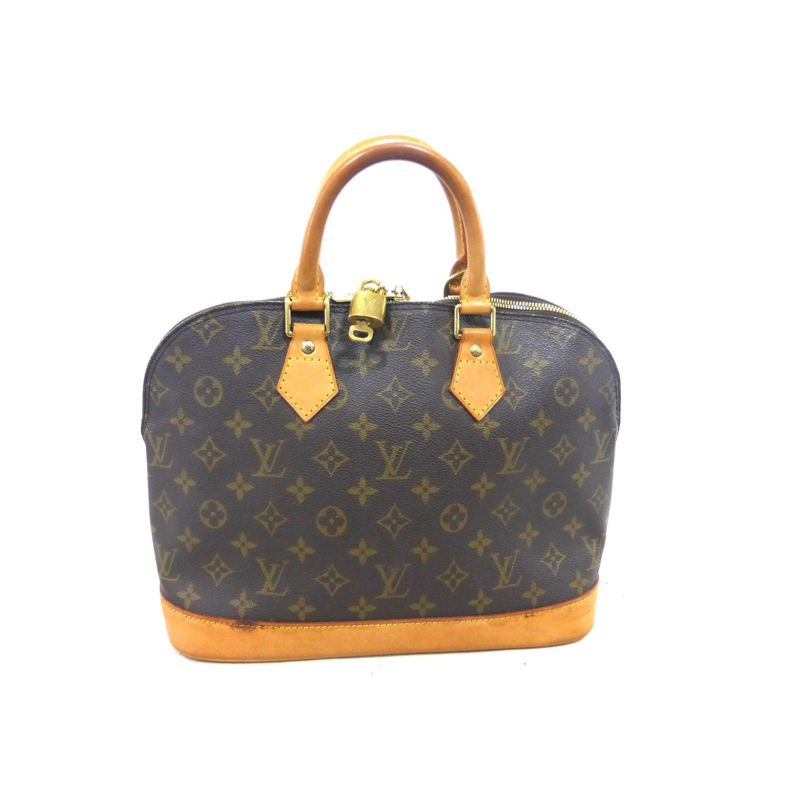 e25c4d75f7f1 Louis Vuitton ALMA MONOGRAM Handbags Leather Brown ref.111452 - Joli ...