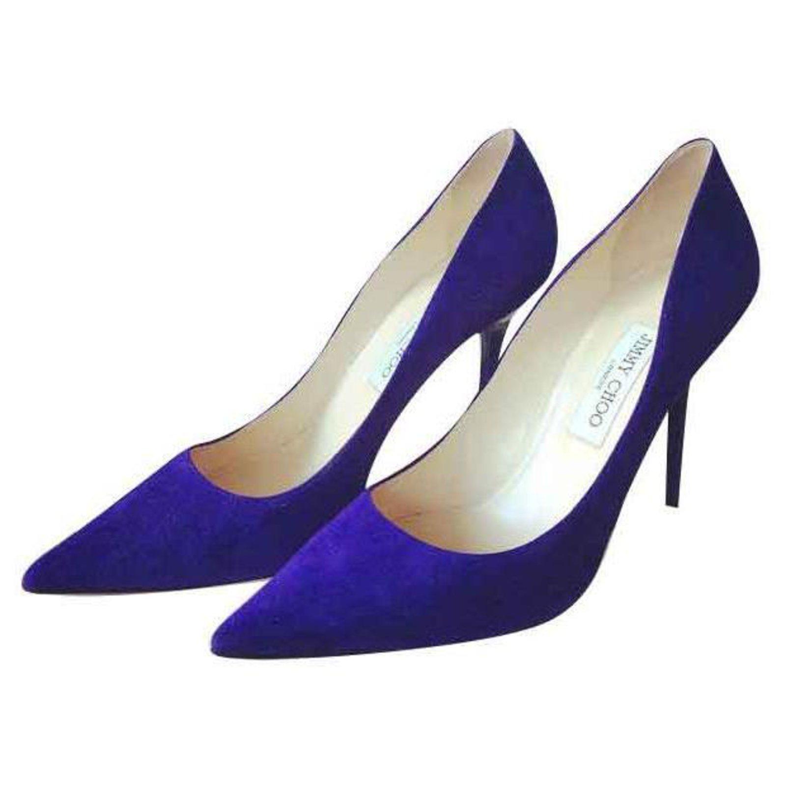 Purple Court Heels