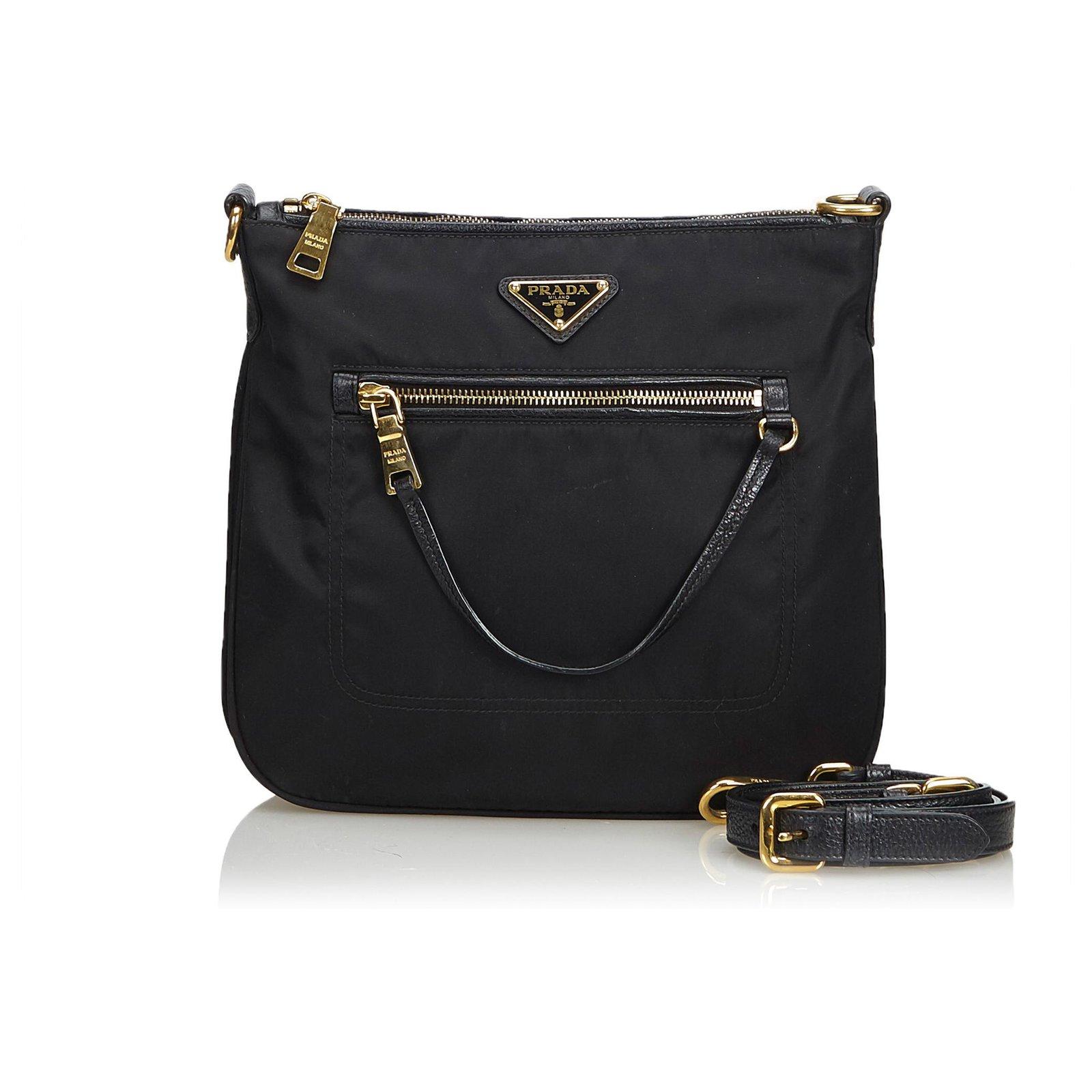 48a7445bb212 Prada Tessuto Nylon Shoulder Bag Handbags Leather,Other,Nylon,Cloth Black  ref.