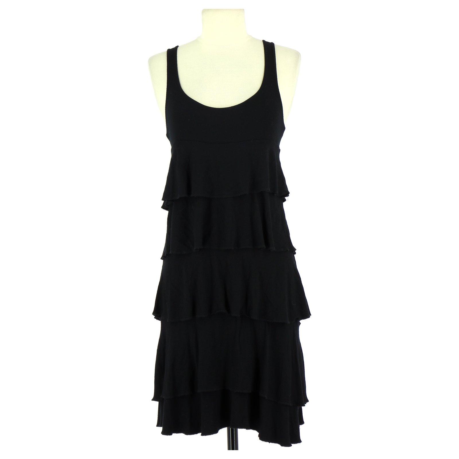Robes Sinequanone Robe Viscose Noir Ref 112308 Joli Closet